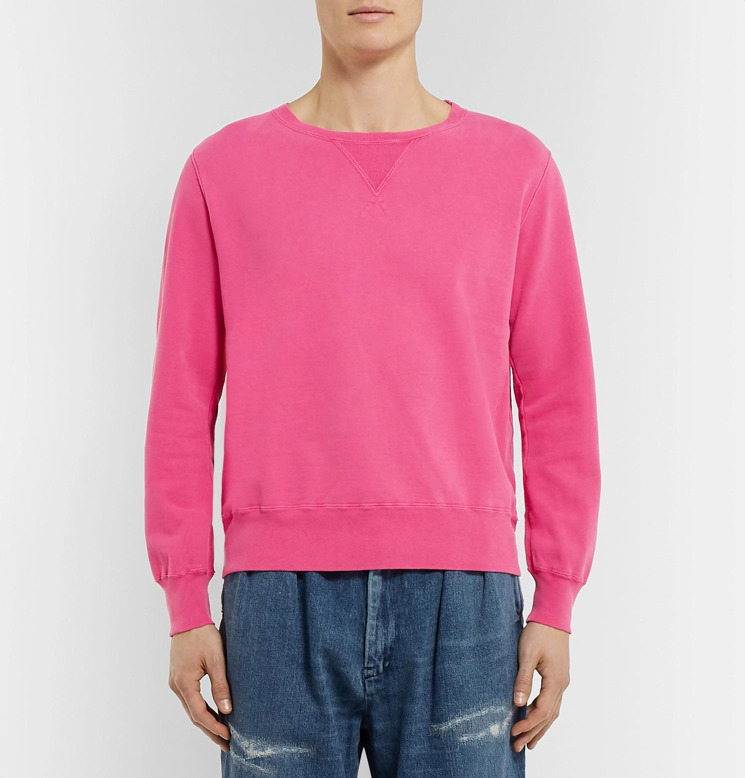 Distressed Sweatshirt Fullscreen Jersey Men View Loopback Pink Remi Cotton Lyst Relief For aYxFCqwE