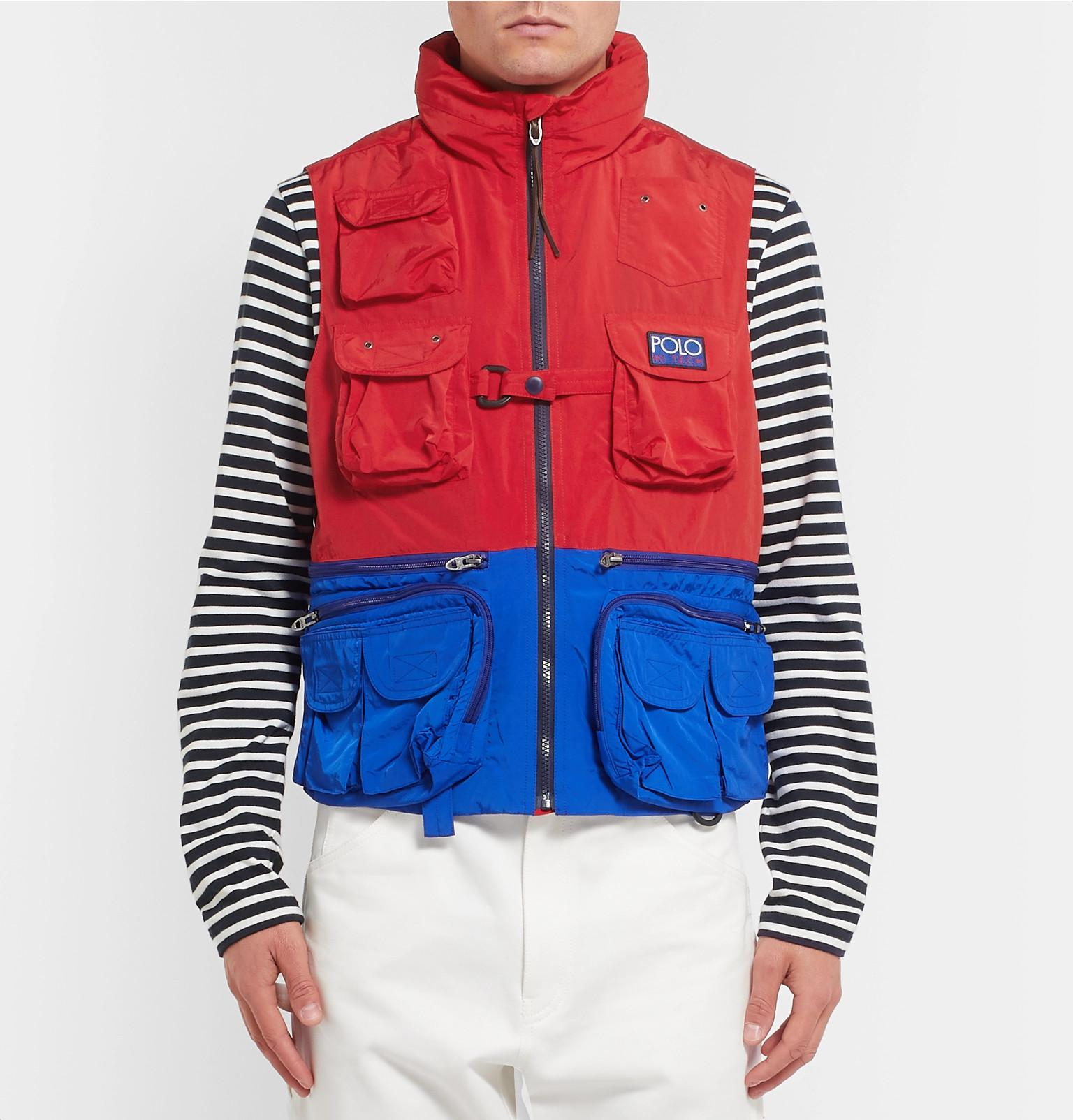 ee274214519a59 Polo Ralph Lauren Hi-tech Logo-appliquéd Colour-block Shell Hooded ...