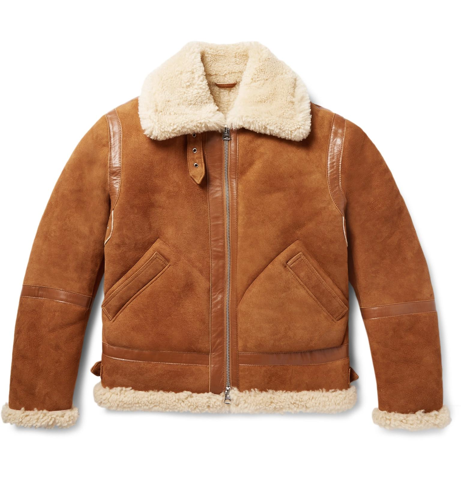 27ab274e54c Acne Studios Ian Leather-trimmed Shearling Jacket in Brown for Men ...