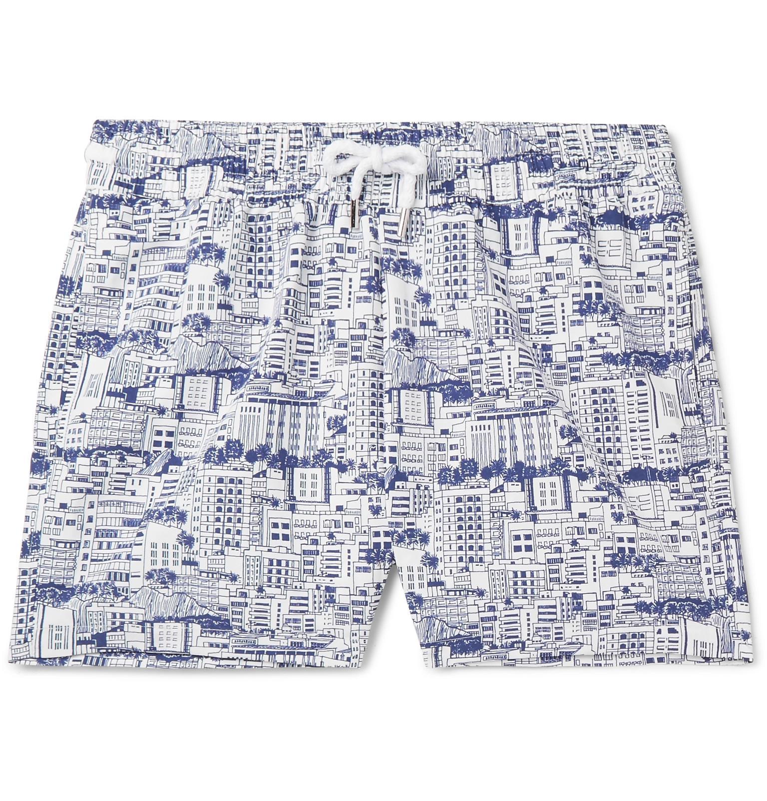 Swim length Printed Shorts Frescobol Carioca Predios Short xtwqOO