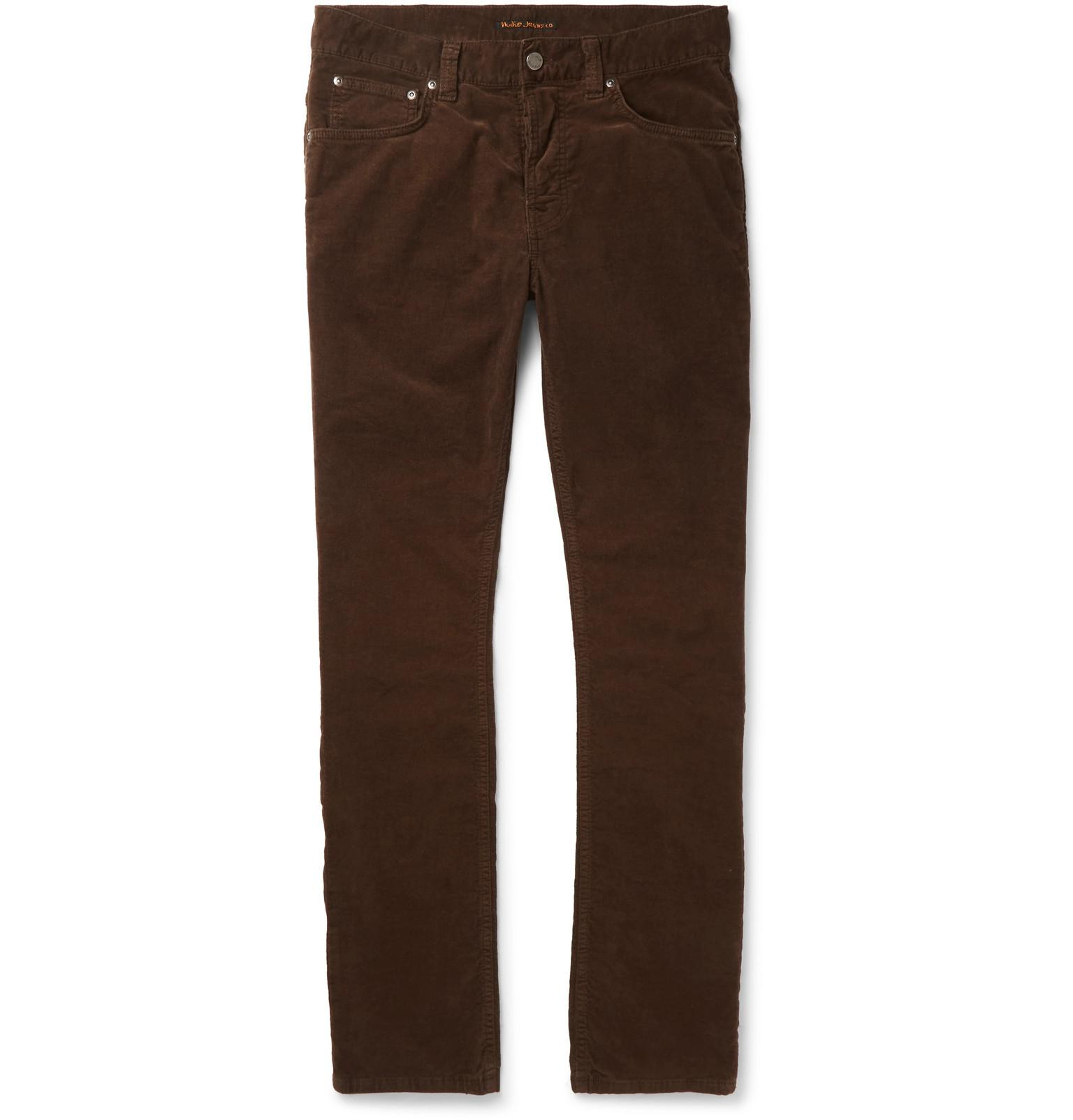 Discount For Nice Grim Tim Sim-fit Organic Stretch-velvet Jeans Nudie Jeans Outlet From China hwzaAi
