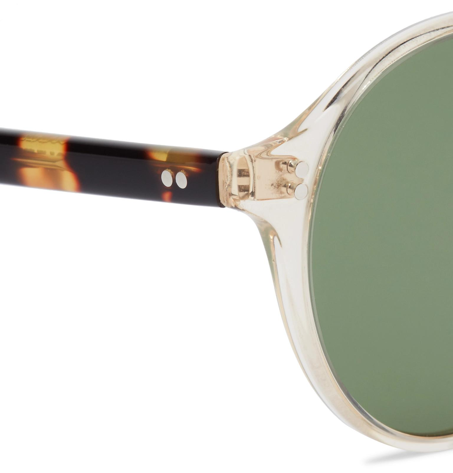 1ebf0eee6b9 Oliver Peoples Op-1955 Round-frame Clear And Tortoiseshell Acetate ...