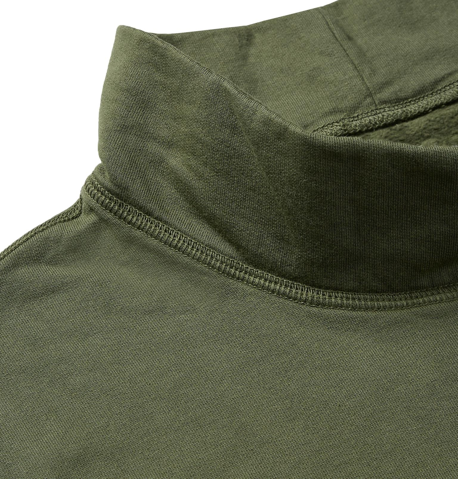 Save Green Back Cotton View Neck Fullscreen Sweatshirt Jersey Fleece Khaki Mock United Supima FfxrFTw