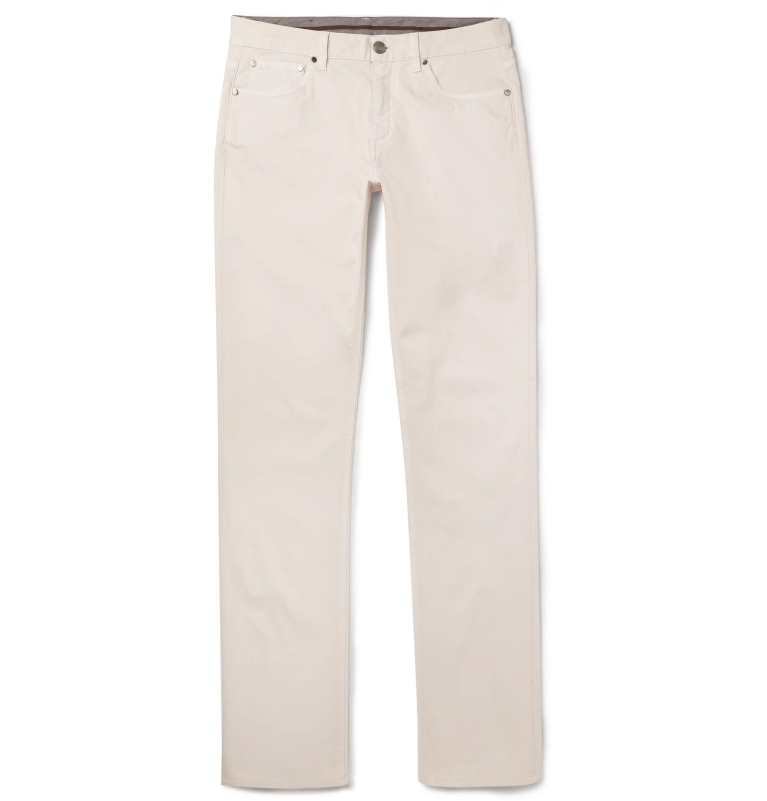 Clearance Online Ebay Fashion Style Sale Online Slim-fit Cotton And Linen-blend Twill Trousers Ermenegildo Zegna Pay With Visa Cheap Sale Purchase wXvetnfP