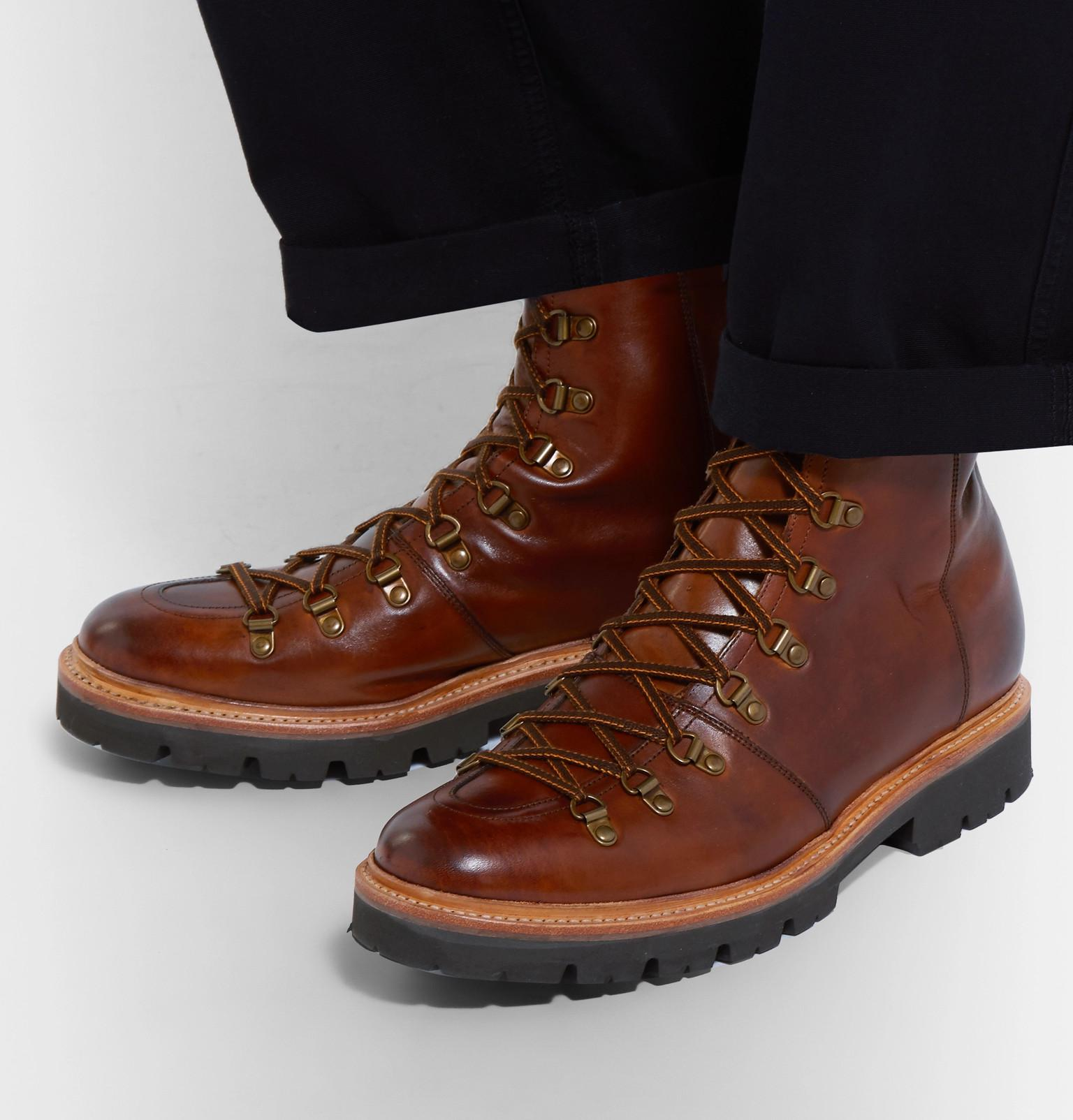 011d75b3d36 Grenson Brady Polished-leather Boots in Brown for Men - Lyst