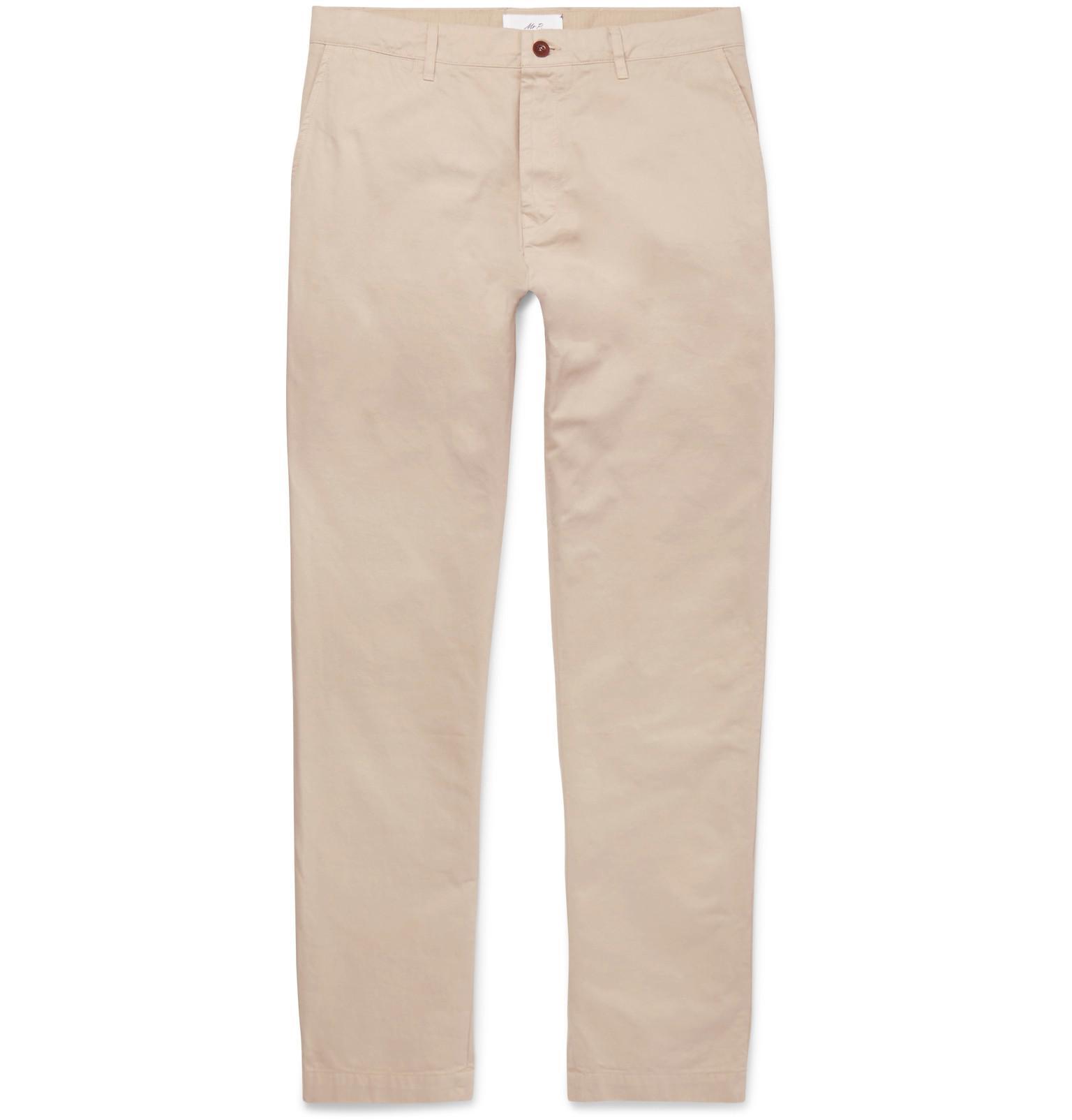 Wide-leg Garment-dyed Cotton-twill Chinos Mr P. 4fhWl0mk