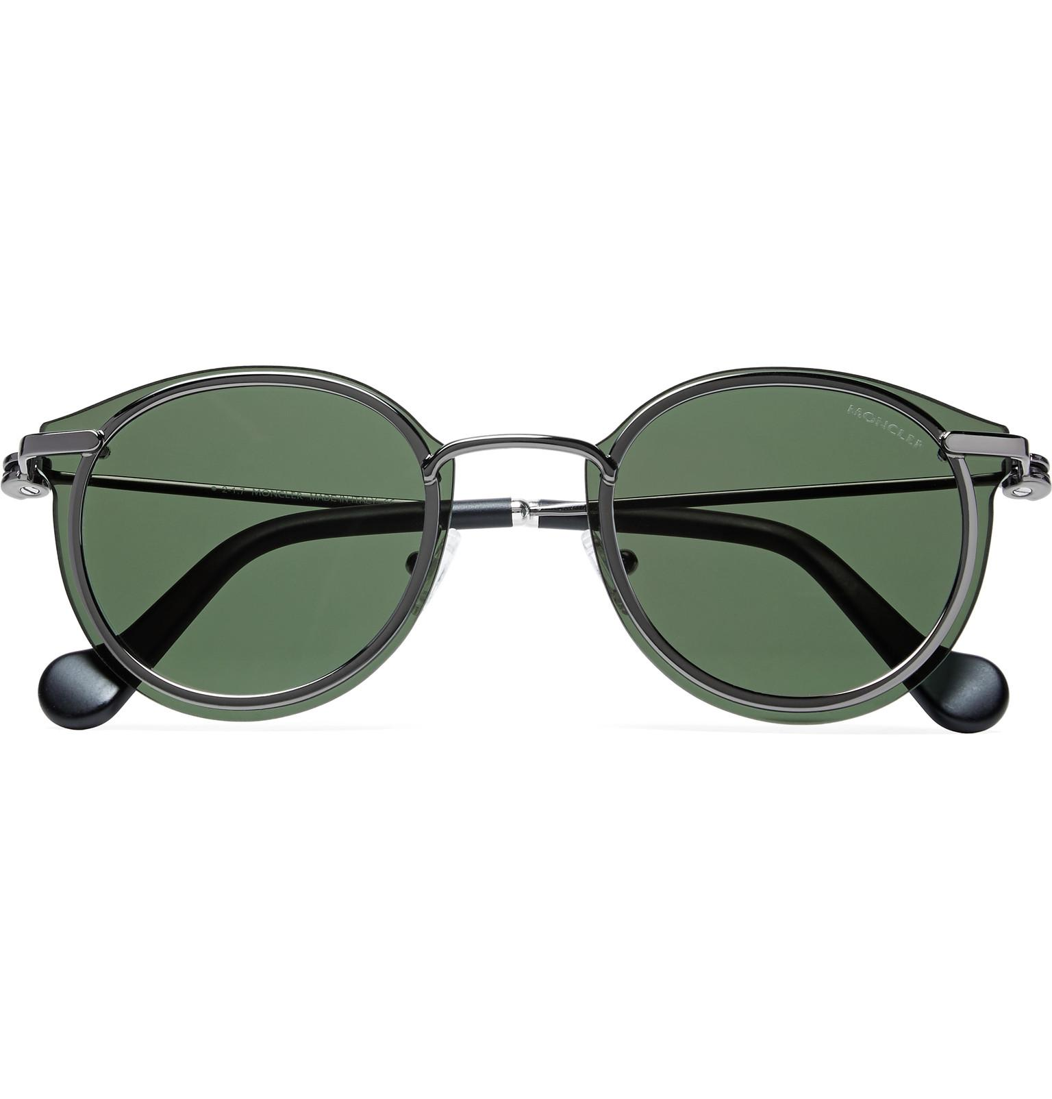 Round-frame metal sunglasses Moncler 8VuJW7SF7
