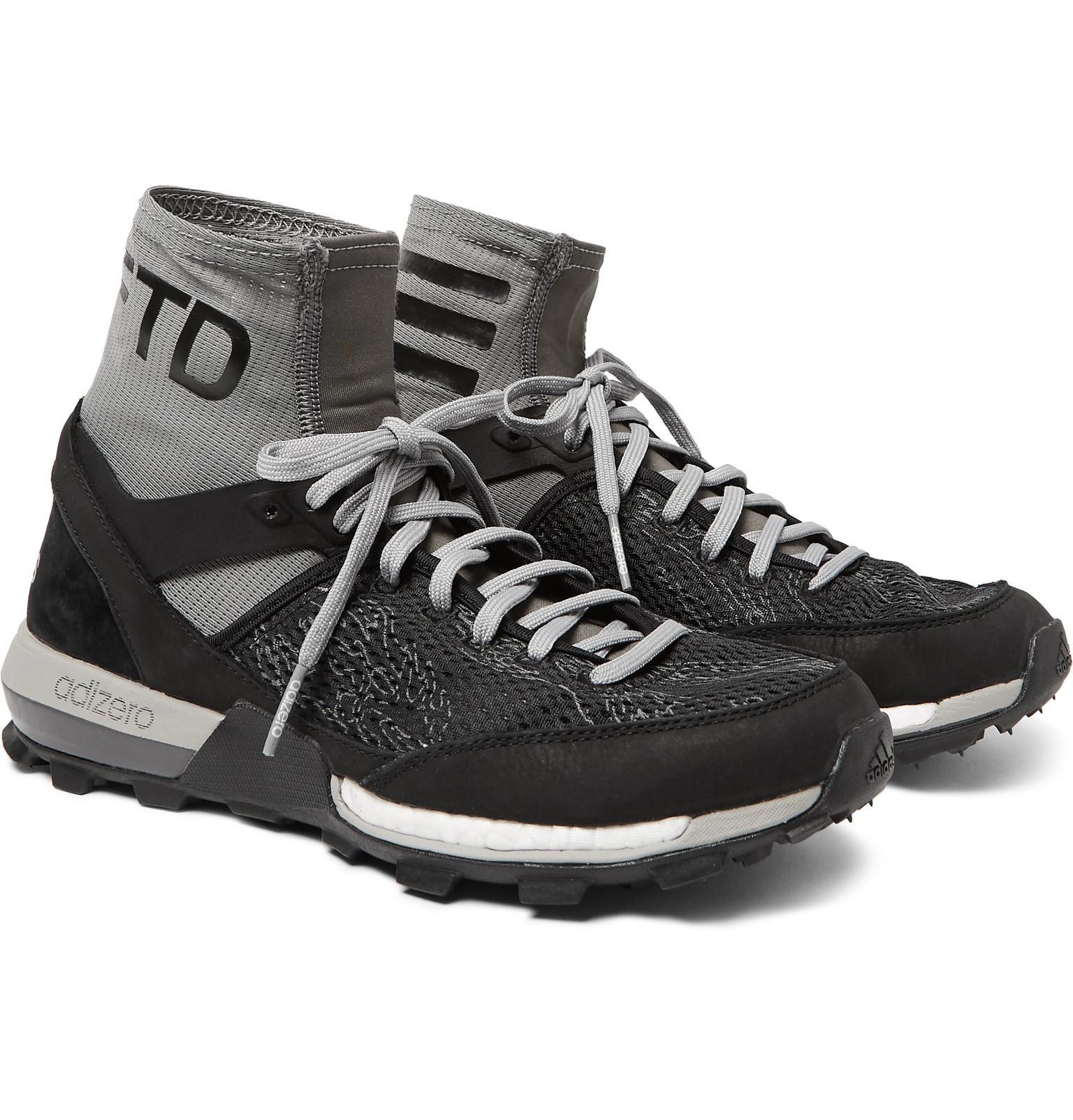 6eba53b351f77 Adidas Originals - Gray X Undefeated Adizero Xt Boost Neoprene And  Rubber-trimmed Mesh Running. View fullscreen