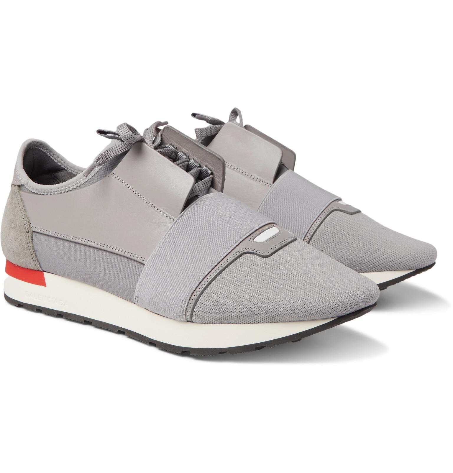 63e4627ee8db Balenciaga Grey Race Runner Sneakers in Gray for Men - Save ...