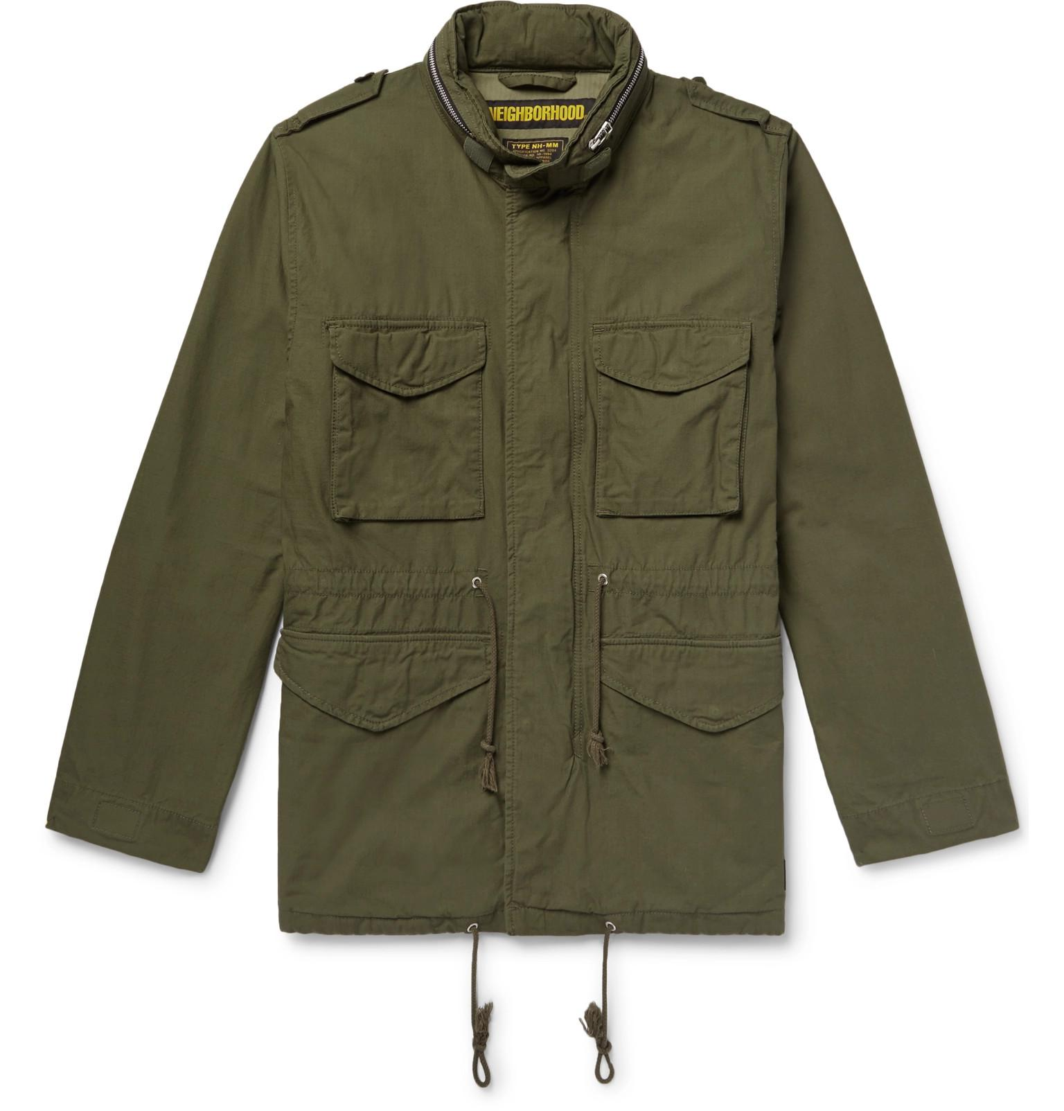 Hooded Neighborhood Men Lyst Jacket Cotton canvas in 65 for M Green w6qI6xZBp