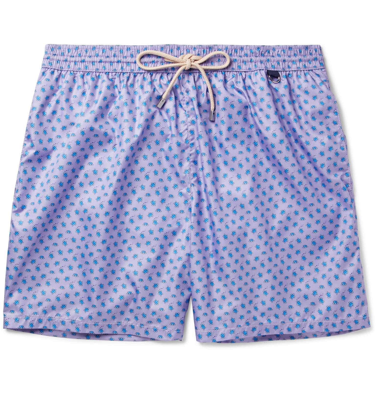 Mid-length Printed Swim Shorts Rubinacci Cheap Supply U3dcw2Bks