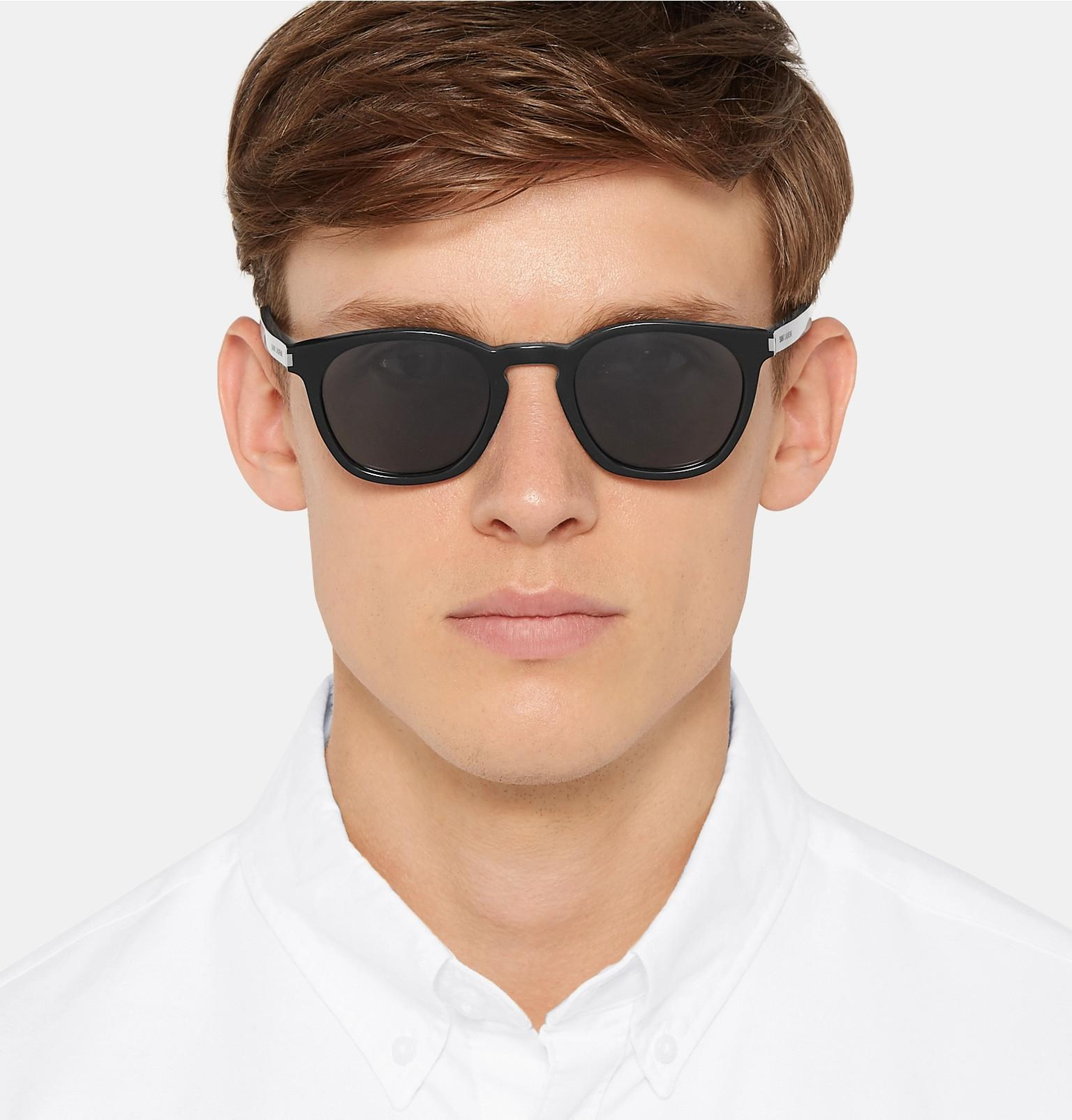 8a075843dcd6 Saint Laurent - Black D-frame Acetate Sunglasses for Men - Lyst. View  fullscreen