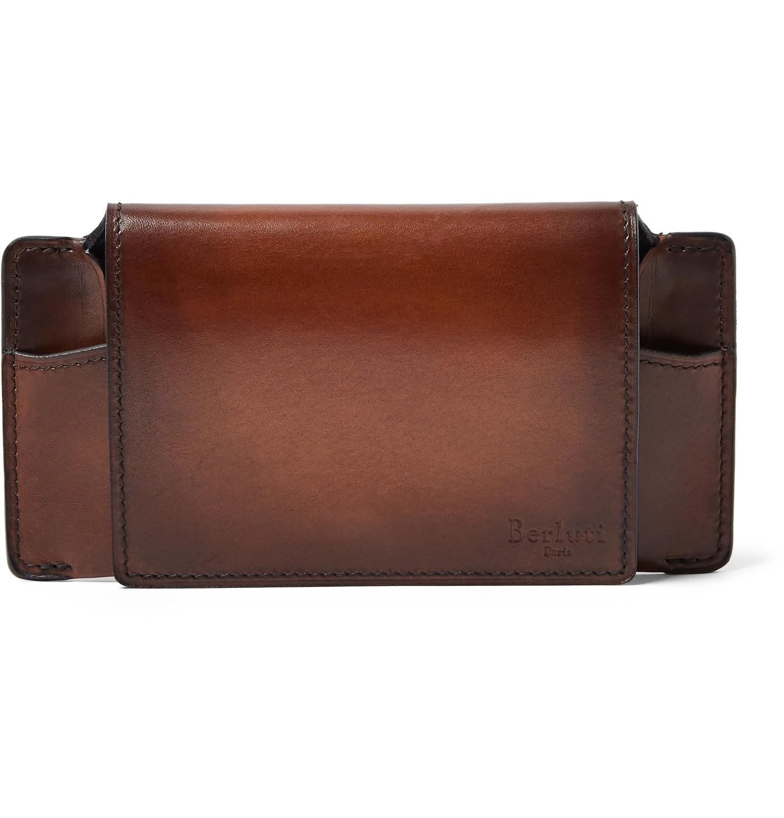 b3c6a830f23 Gucci Brown Leather Glasses Case - Image Of Glasses