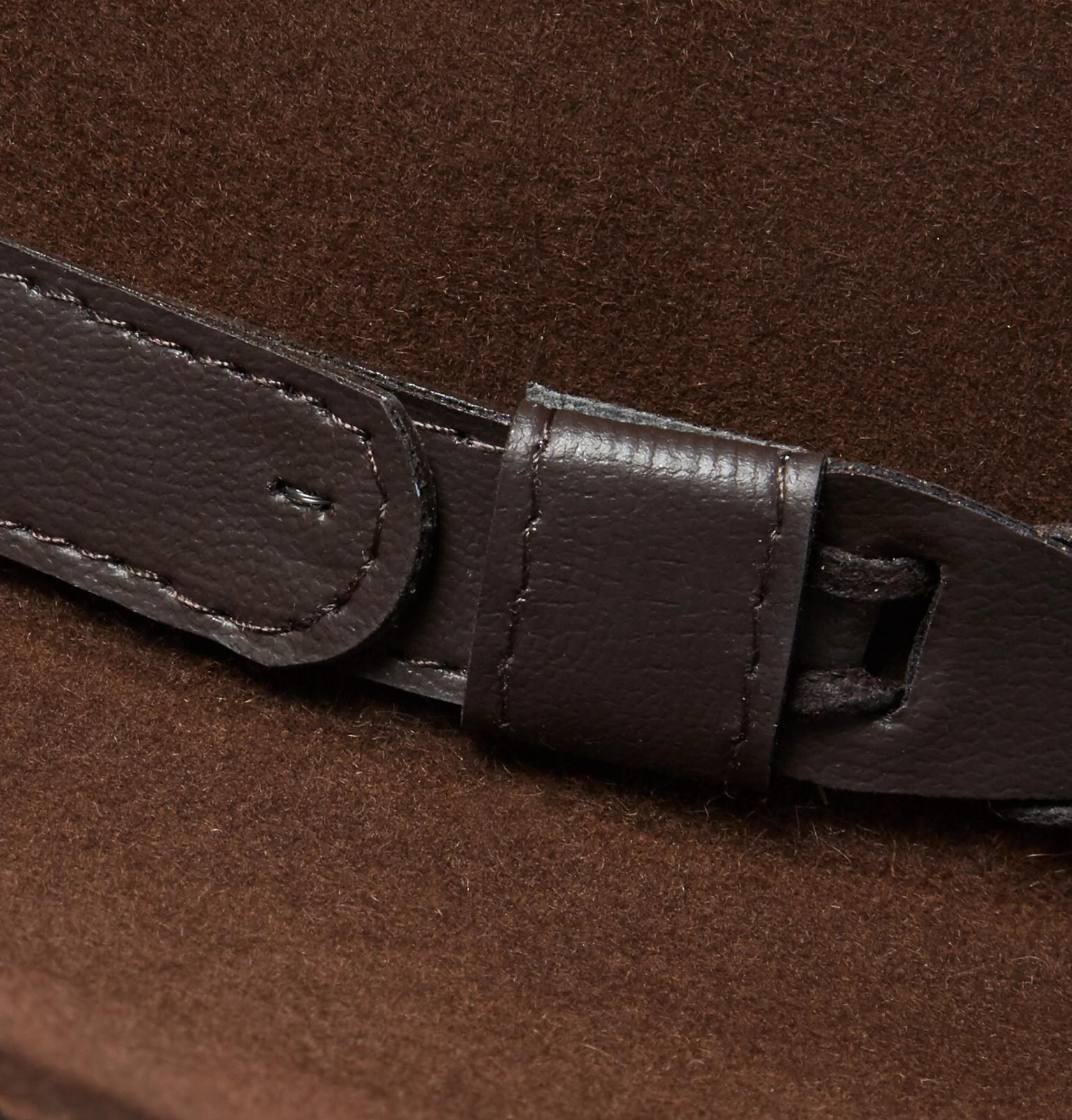043e8d9b94643 Kingsman + Stetson Jack s Statesman Leather-trimmed Felt Hat in ...