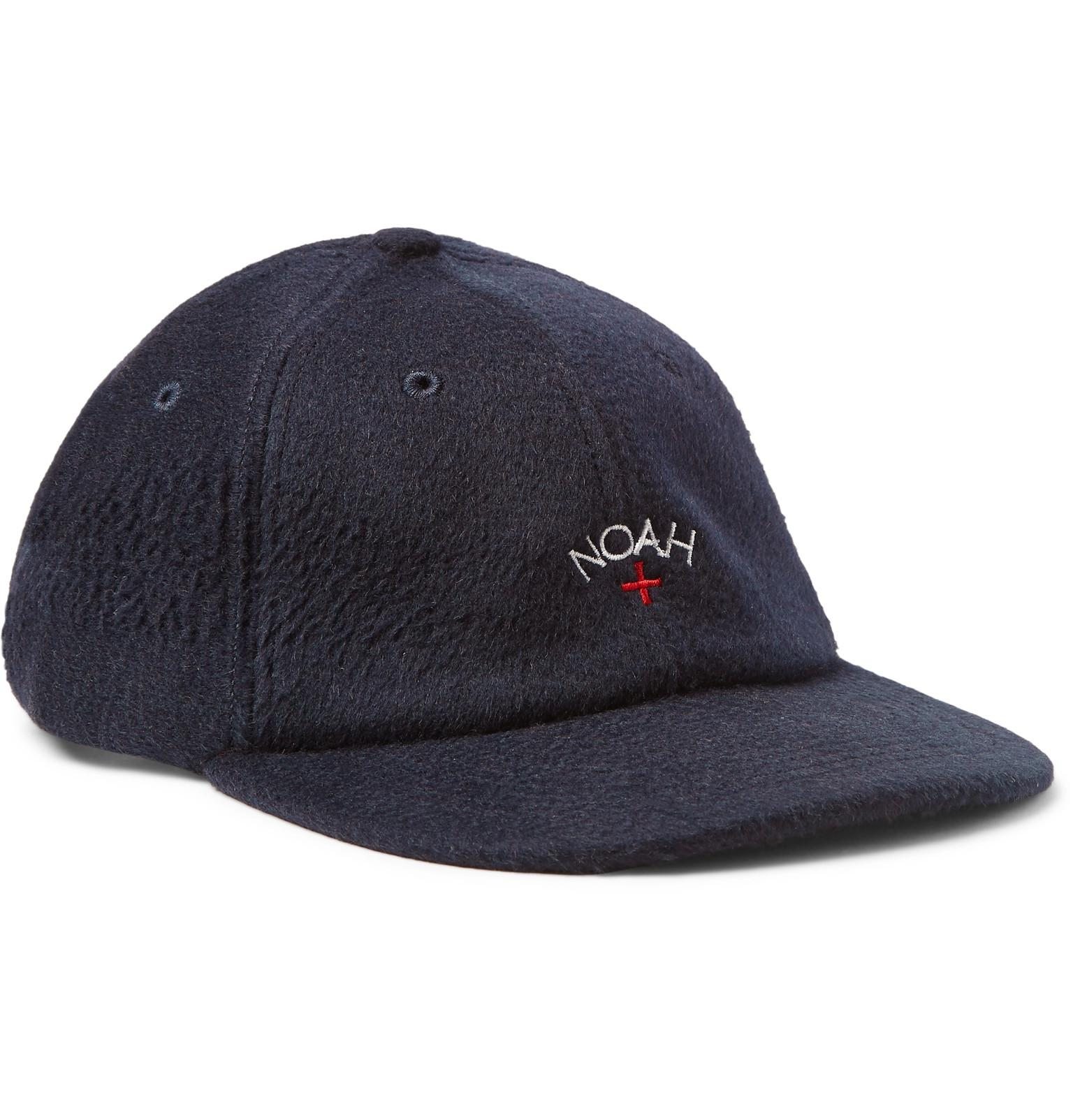 the latest a977d 641f1 get promo code for noah embroidered baby camel hair baseball cap in blue for  men lyst