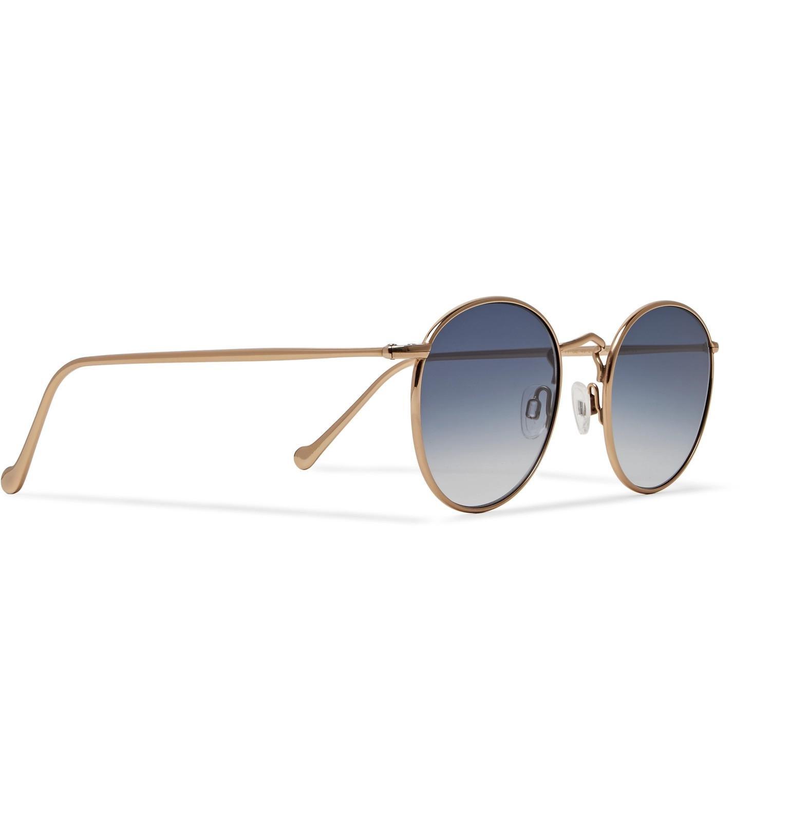 b6899f286db Moscot - Metallic Zev Round-frame Gold-tone Titanium Sunglasses for Men -  Lyst. View fullscreen
