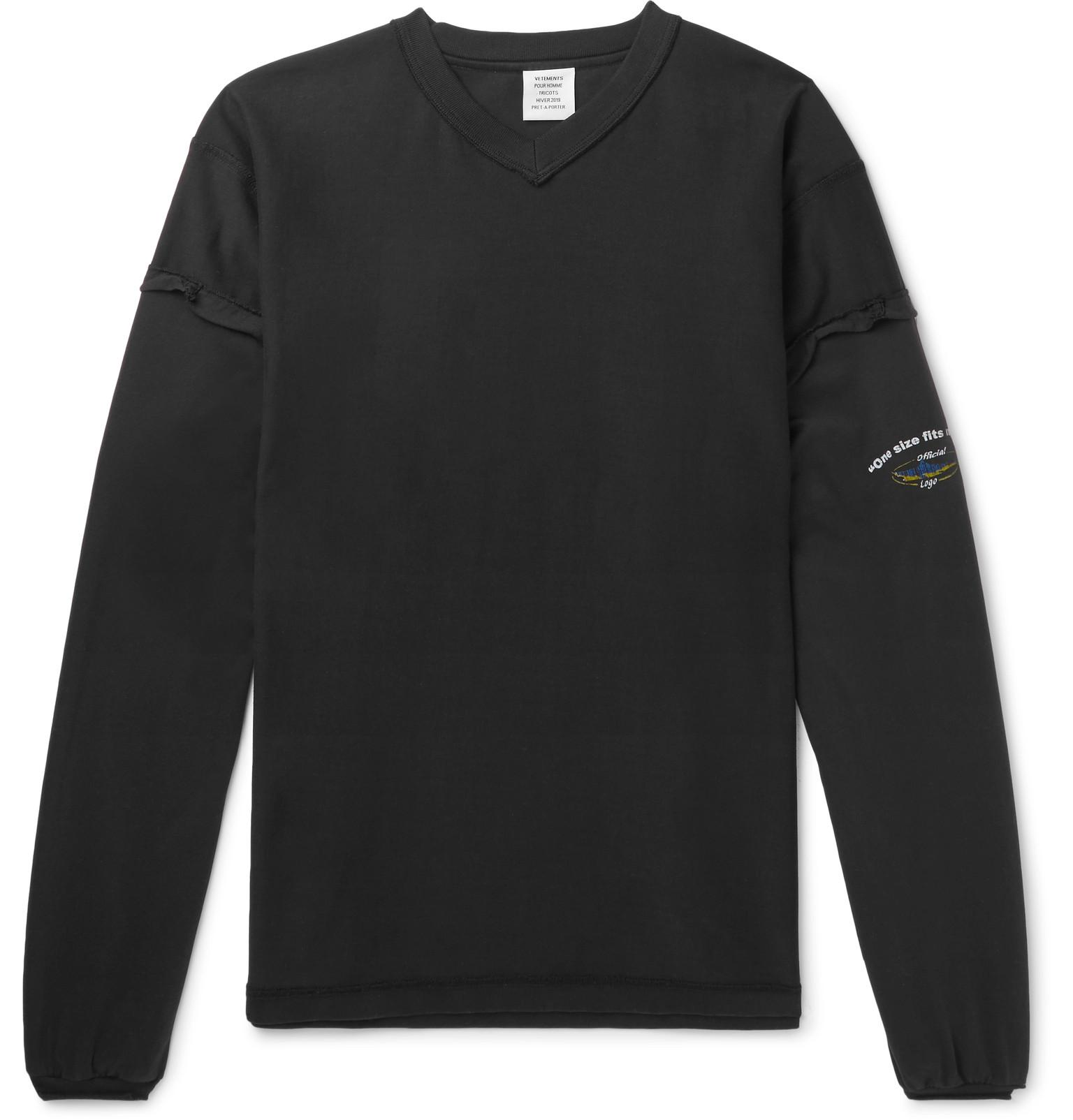 Lyst - Vetements Oversized Appliquéd Printed Cotton-jersey T-shirt ... c7deb787136