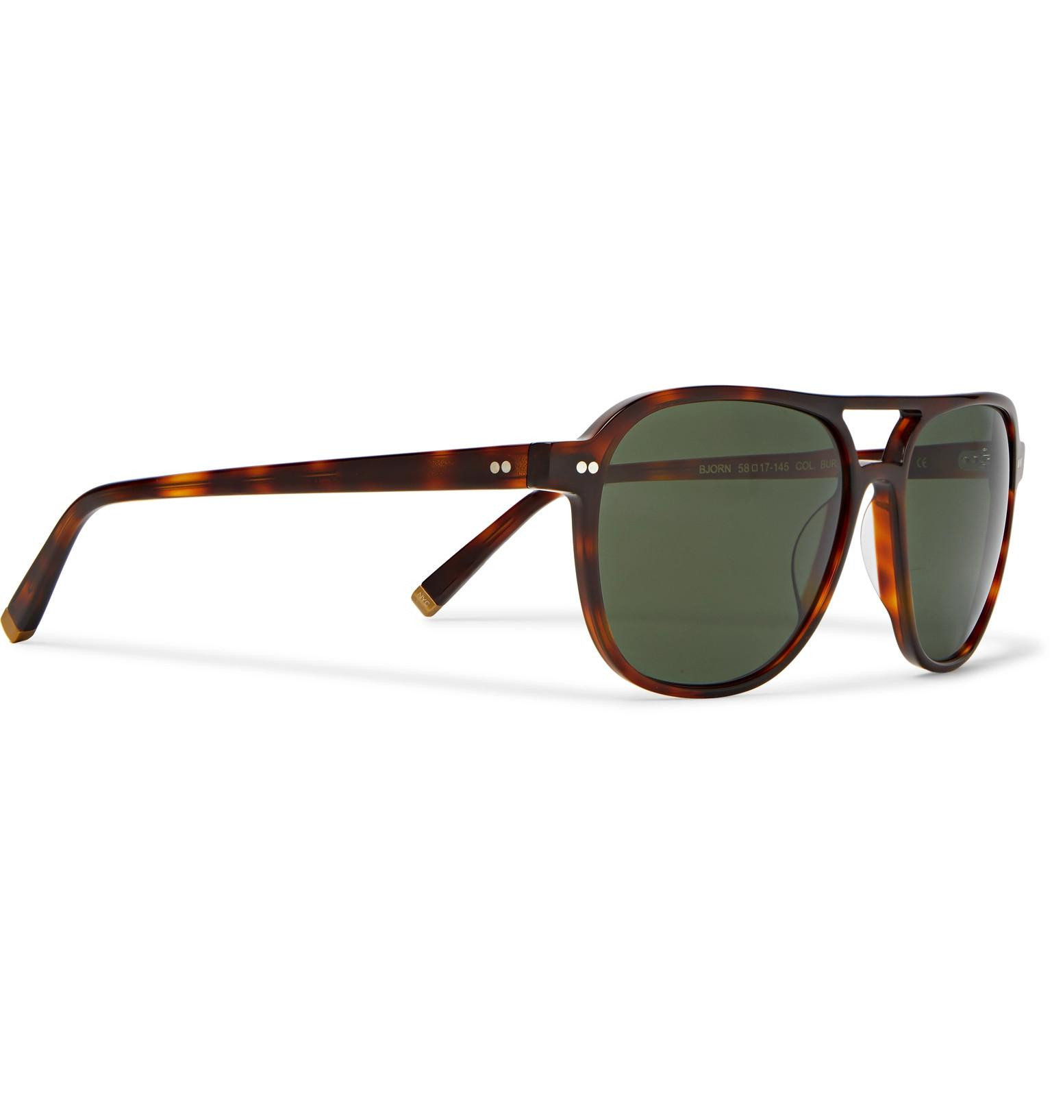 2706bdac5a2c Moscot - Multicolor Bjorn Aviator-style Tortoiseshell Acetate Sunglasses  for Men - Lyst. View fullscreen