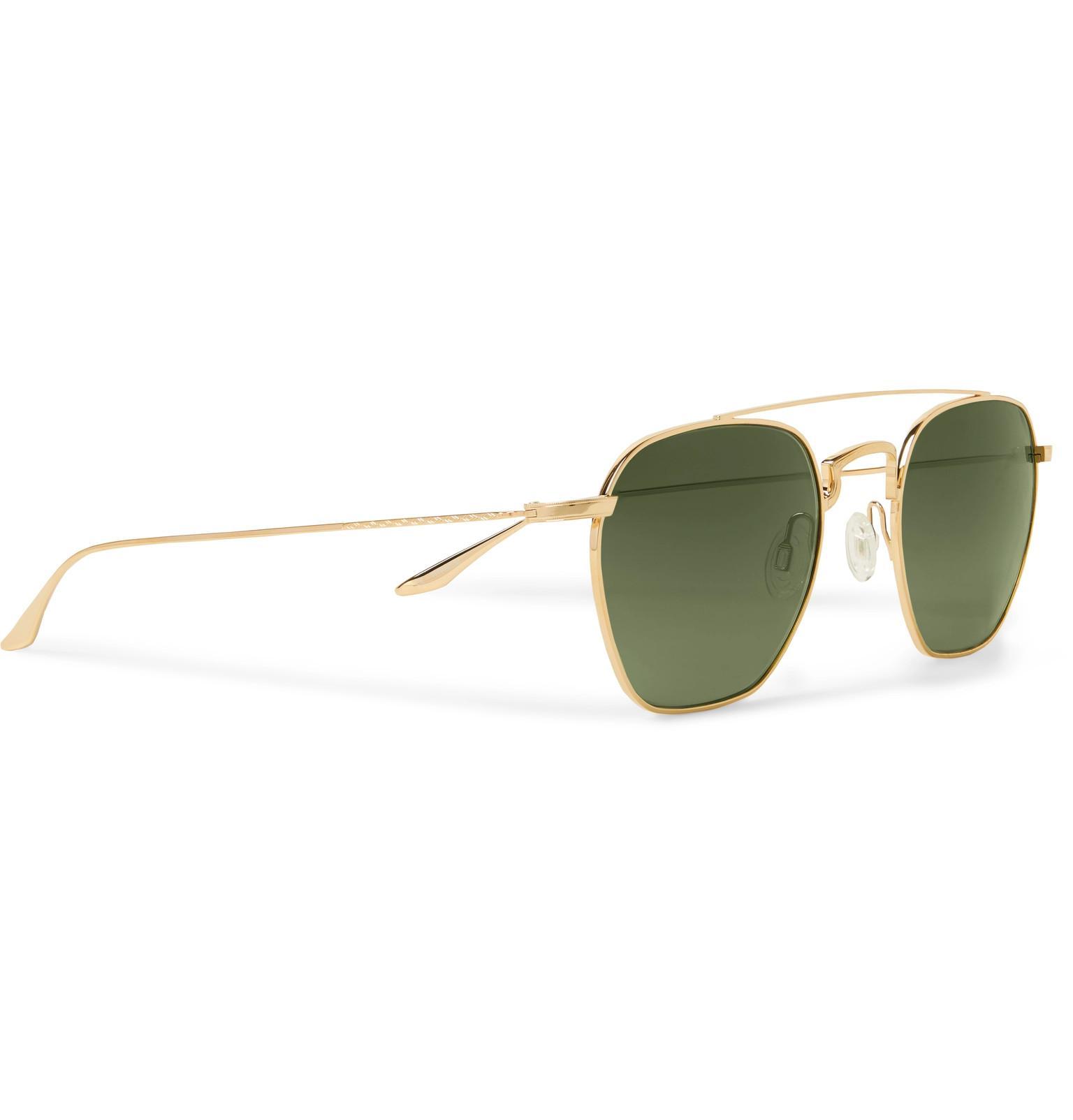 4360c5474d Barton Perreira - Metallic Doyen Aviator-style Gold-tone Titanium Sunglasses  for Men -. View fullscreen