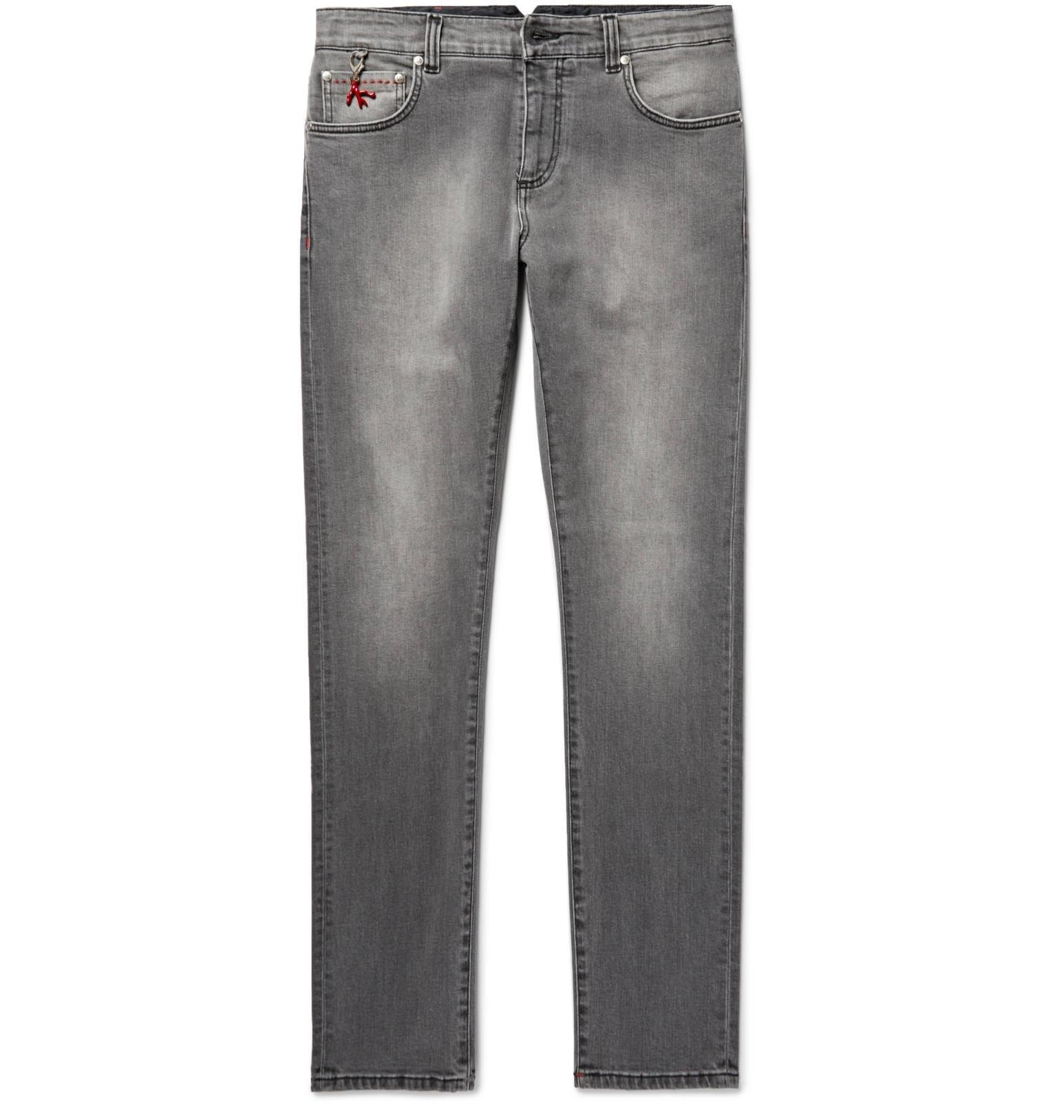 ISAIA Skinny-fit Stretch-denim Jeans - Gray pOcV7m