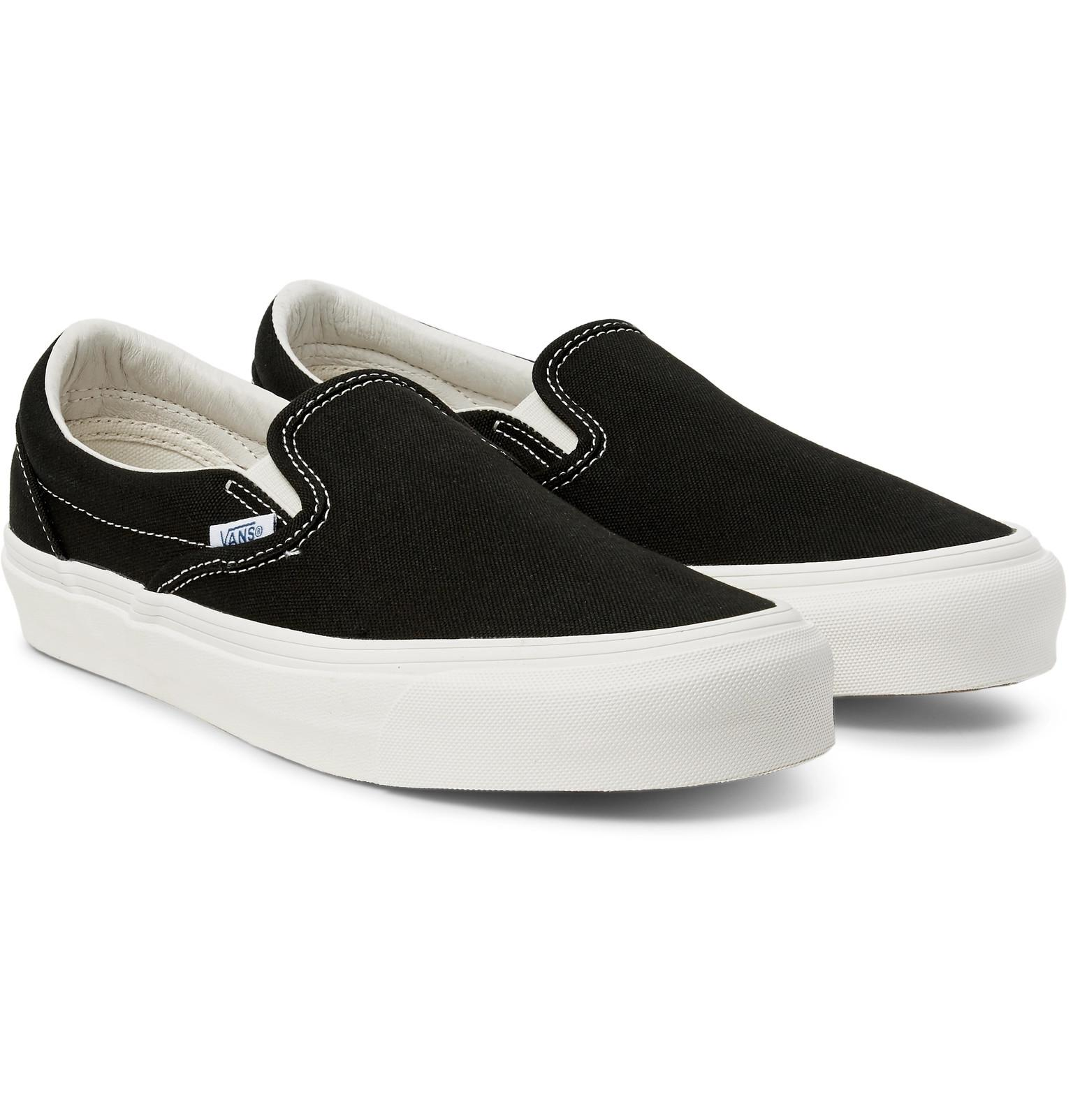 d26dd99649 Lyst - Vans Og Classic Lx Canvas Slip-on Sneakers in Black for Men ...