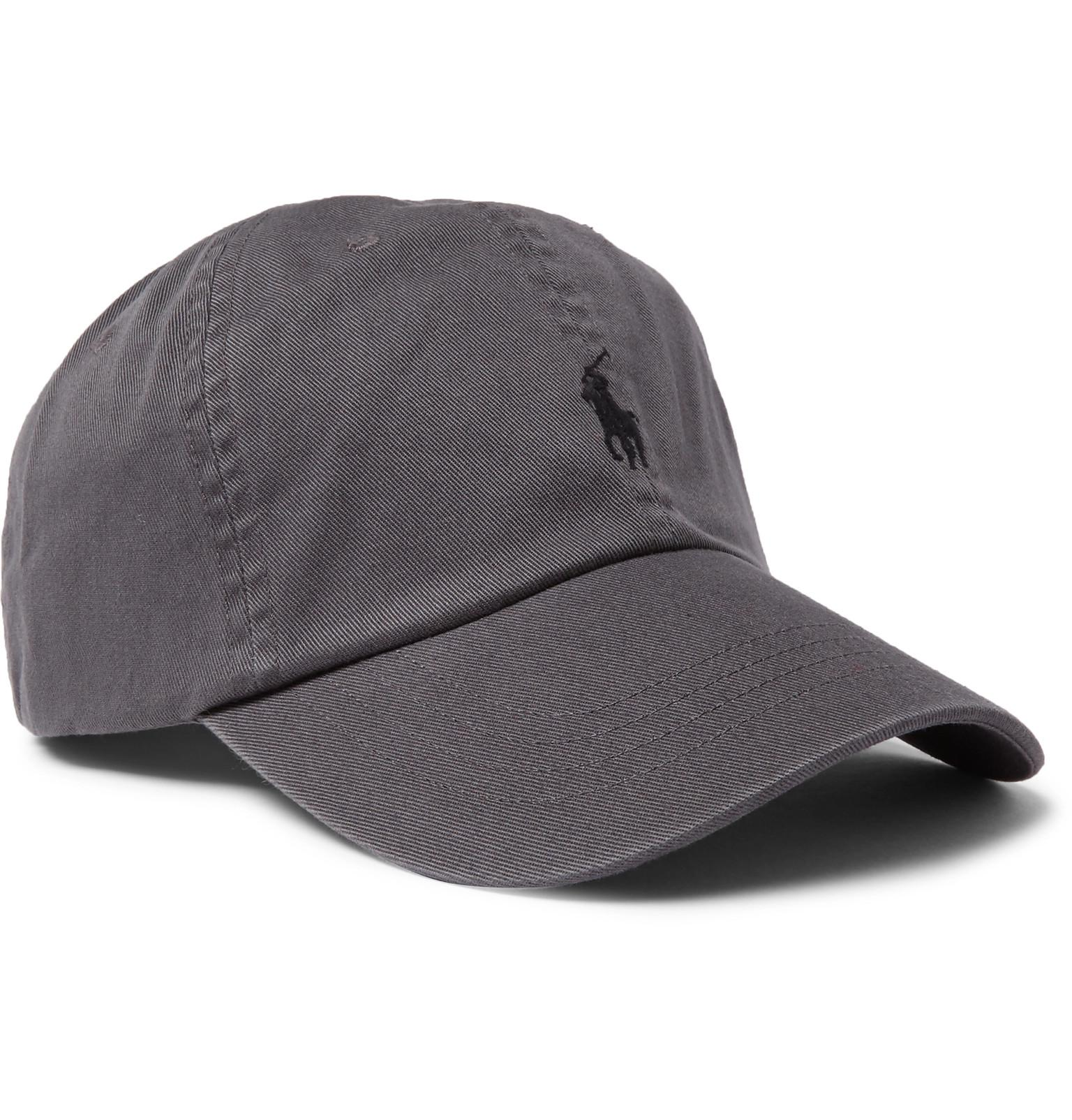 Polo Ralph Lauren. Men s Gray Cotton-twill Baseball Cap.  45 From MR PORTER 80aa4052a9a