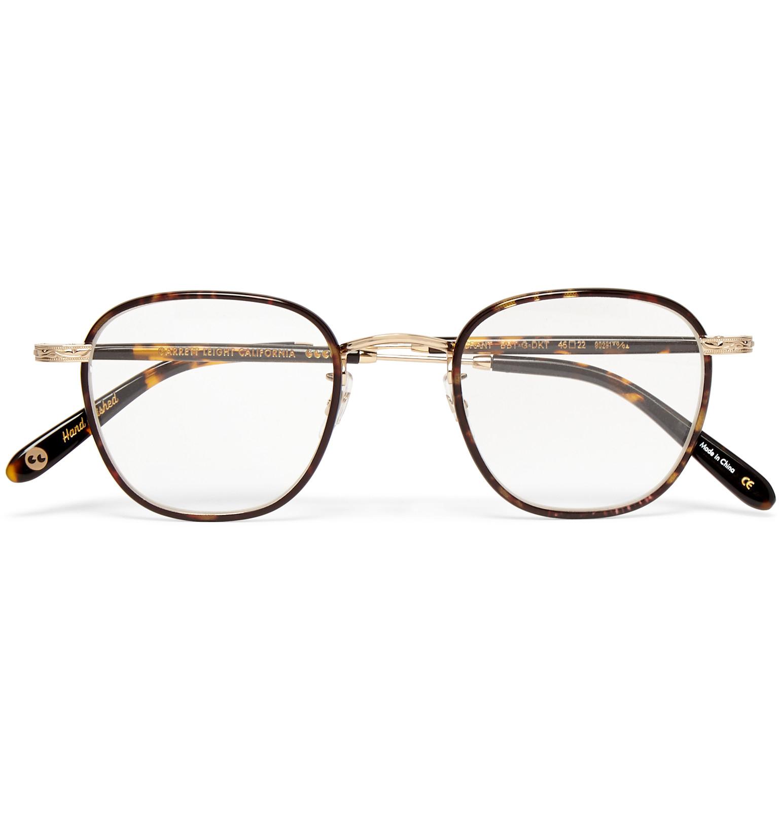 b55e6ea3f2 Lyst - Garrett Leight Grant Square-frame Acetate And Metal Optical Glasses  in Black for