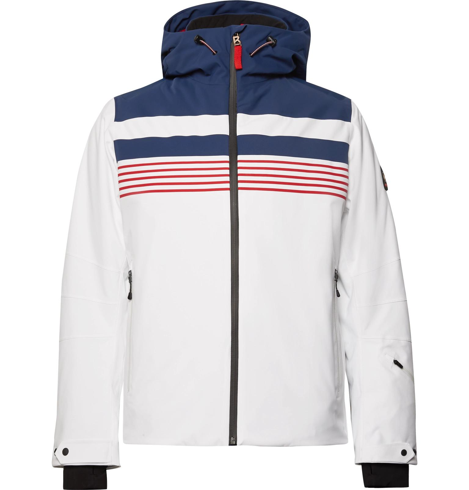 Lyst - Bogner - Fire Ice Mendo Striped Ski Jacket - White in White ... 1606c61f7
