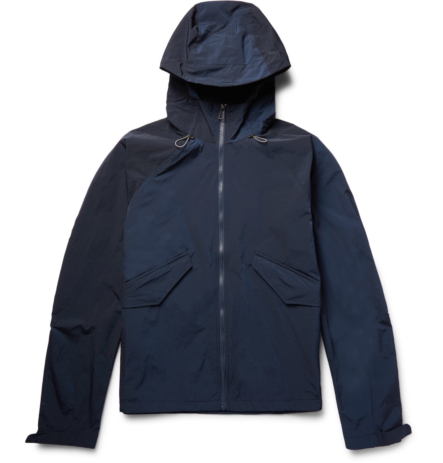 Ps by paul smith Waterproof Shell Hooded Jacket in Blue ...
