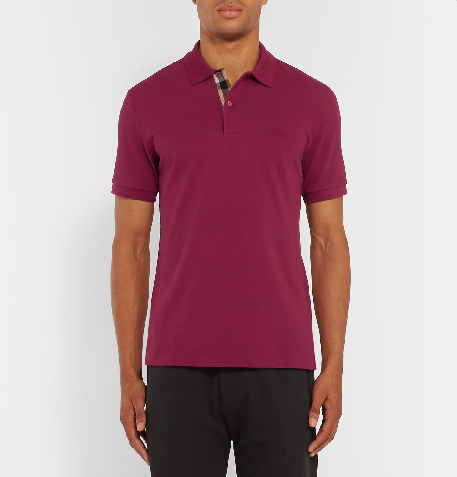 Lyst Burberry Brit Slim Fit Cotton Piqu Polo Shirt In