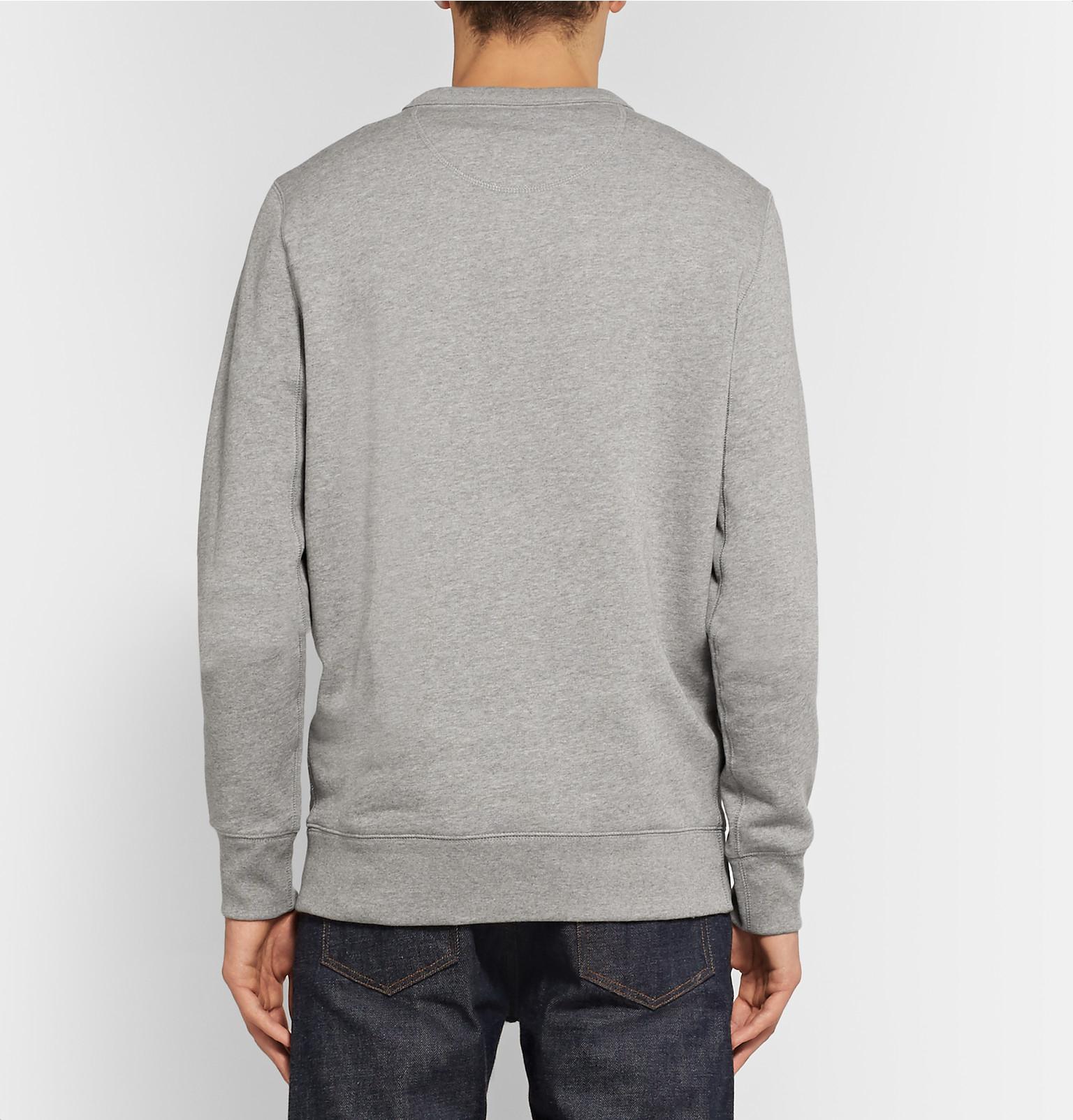 9d24396fadd4 Burberry Embroidered Cotton Blend Jersey Sweatshirt