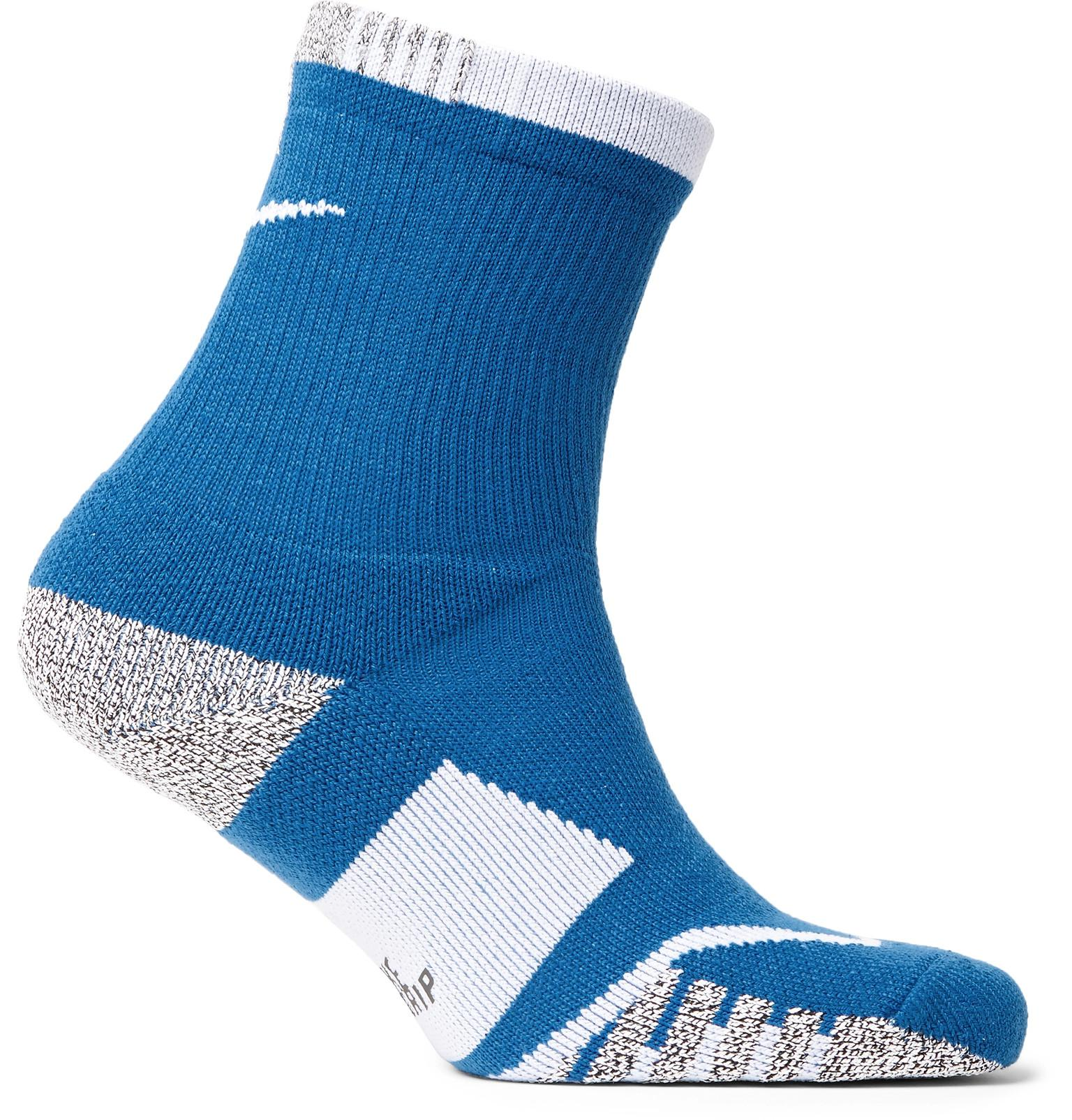 70c2f6535 Nike Nikegrip Elite Crew Dri-fit Tennis Socks in Blue for Men - Lyst