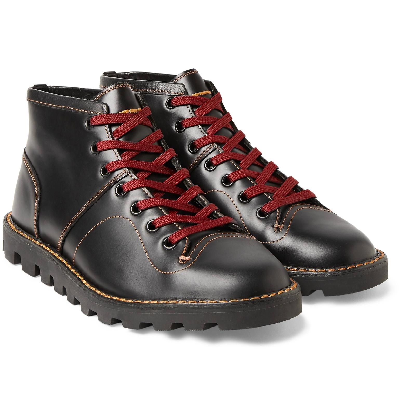 38c6aee4d9c3e COACH Leather Boxing Boots in Black for Men - Lyst