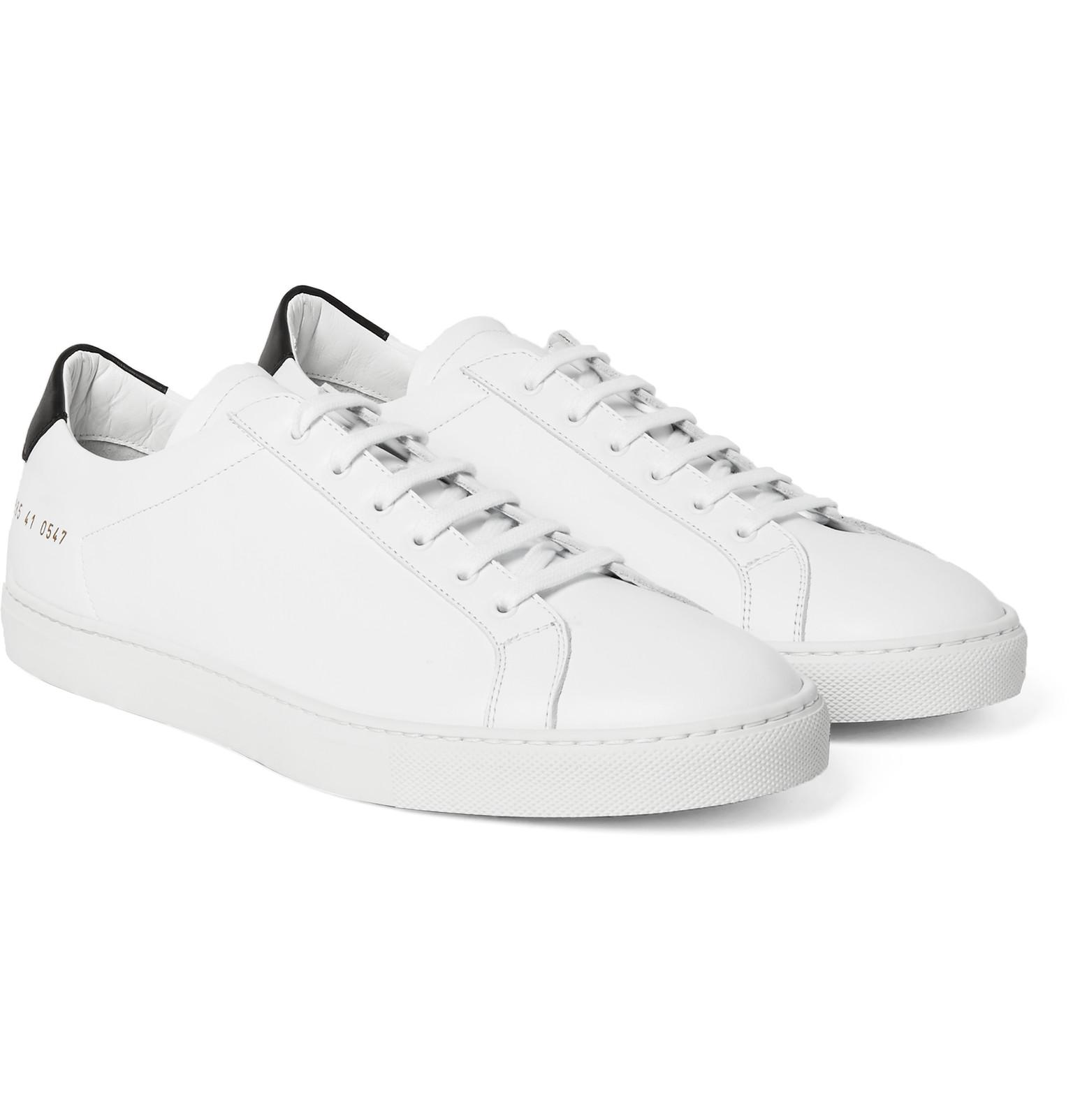common projects achilles retro leather sneakers in white for men lyst. Black Bedroom Furniture Sets. Home Design Ideas