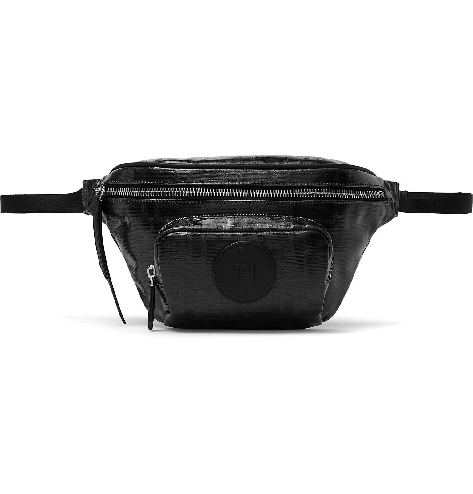 Lyst - Fendi Leather-trimmed Logo-print Coated-canvas Belt Bag in ... fff0f4d75b37b