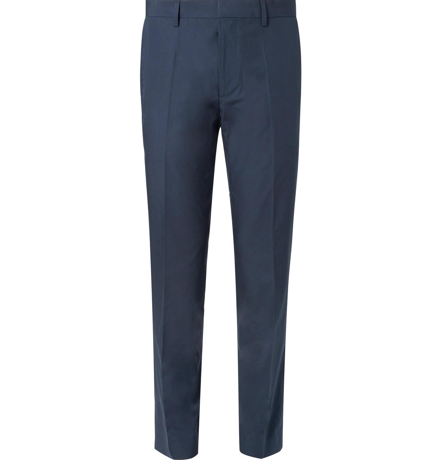 Marine Genèse Pantalon De Costume En Coton Slim Hugo Boss xhJMwqT