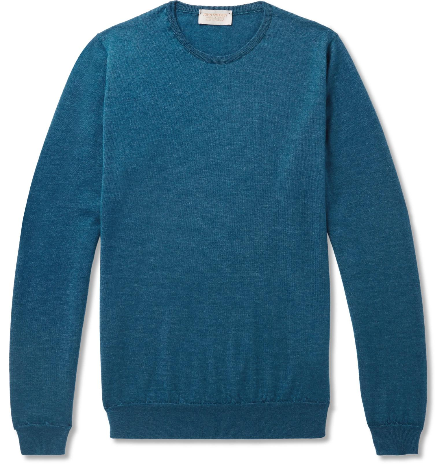 Outlet Largest Supplier Norland Slim-fit Mélange Cashmere And Silk-blend Sweater John Smedley Buy Cheap From China Finishline Online From China Sale Online y9fyJOVuNw
