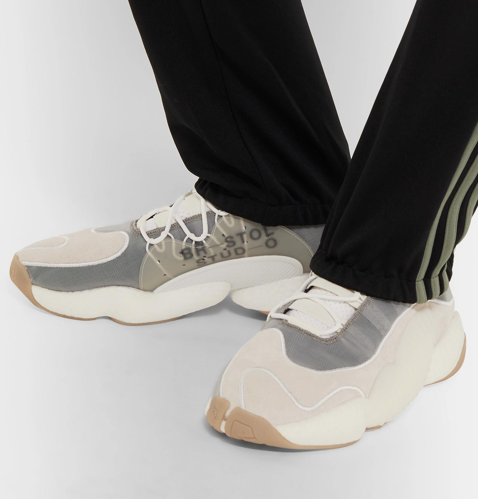 fb9e54bba7c Adidas Originals - White + Bristol Studio Crazy Byw Lvl Ii Suede And Mesh  Sneakers for. View fullscreen