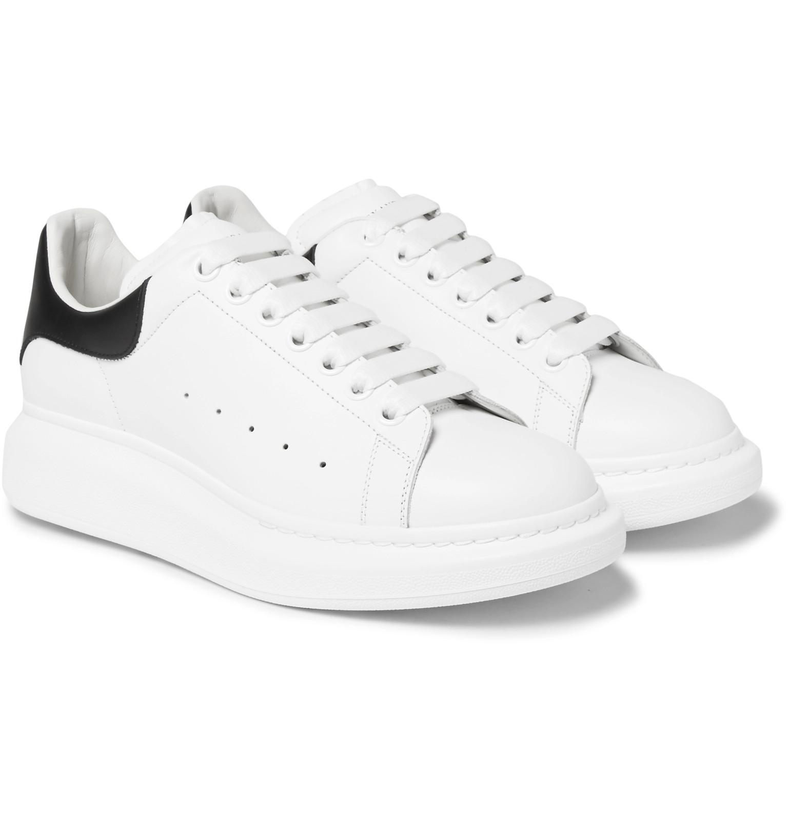 Alexander mcqueen Larry Exaggerated-sole Leather Sneakers in White for Men Lyst