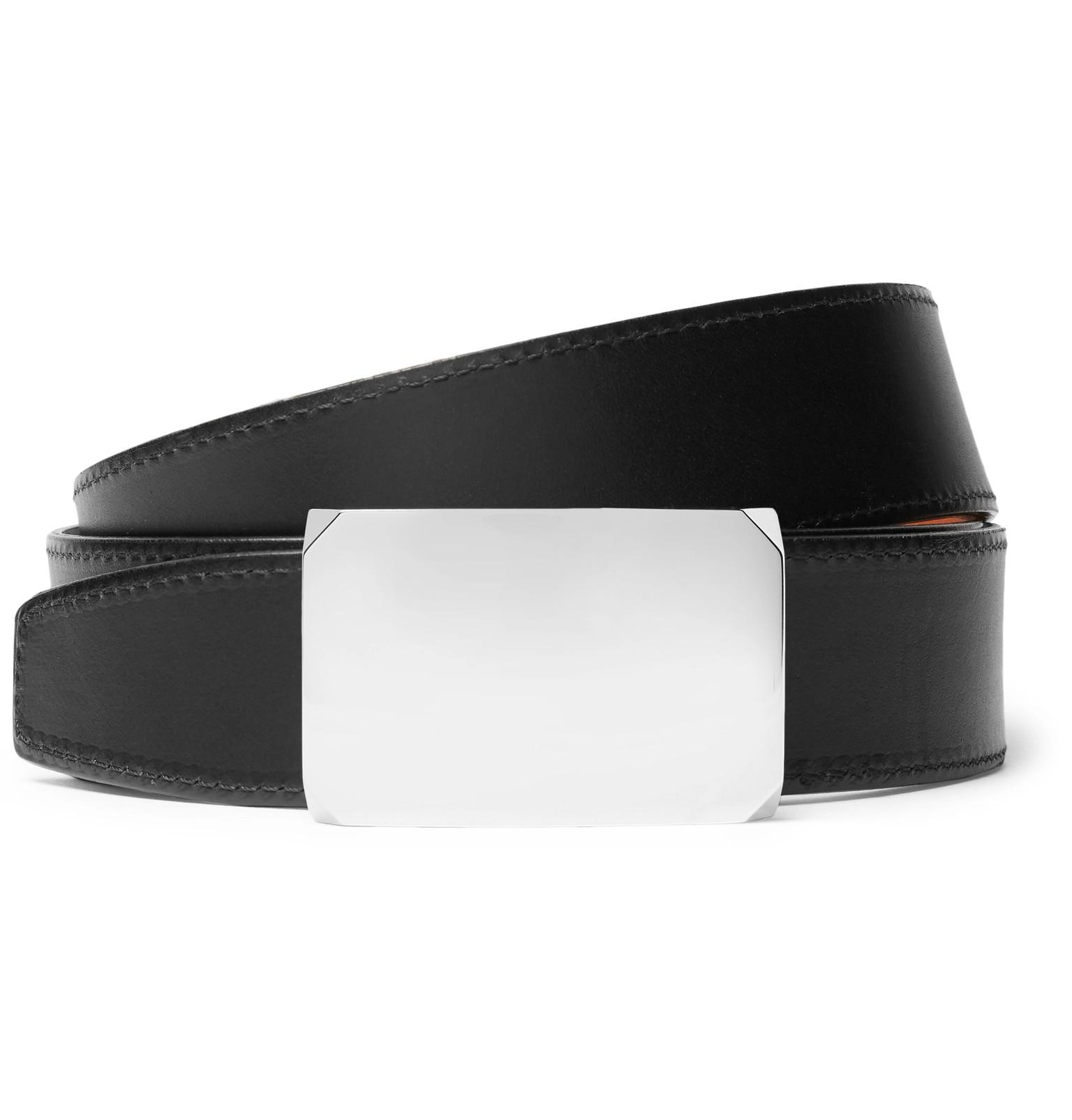 f7700091331 Lyst - Salle Privée 4cm Black And Tan Milton Reversible Leather Belt ...