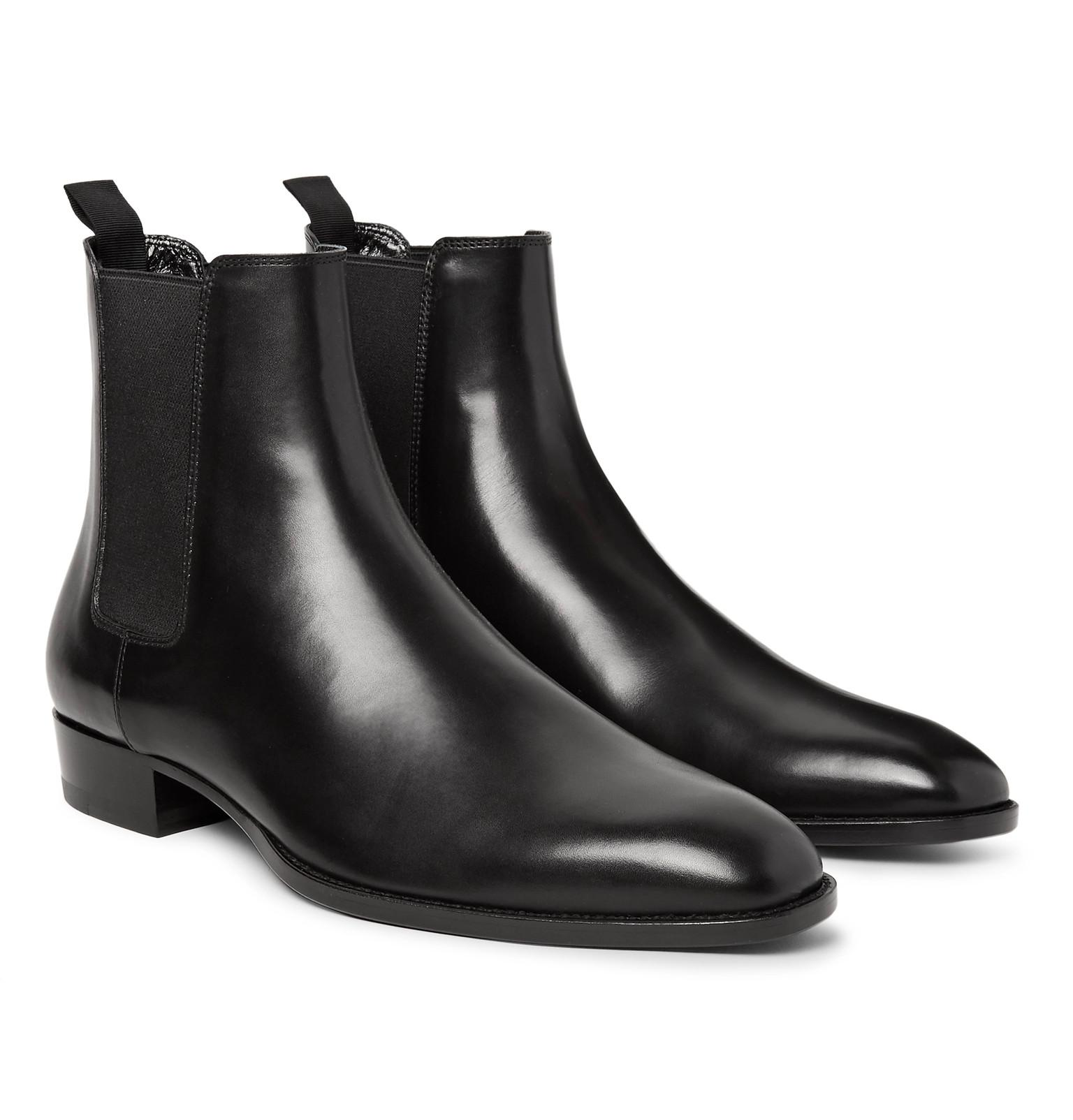 d9a079c1ae9 ... Lizard-Effect Suede Chelsea Boots in Brown for Men Saint laurent  Polished-leather Chelsea Boots in Black for Men | Lyst