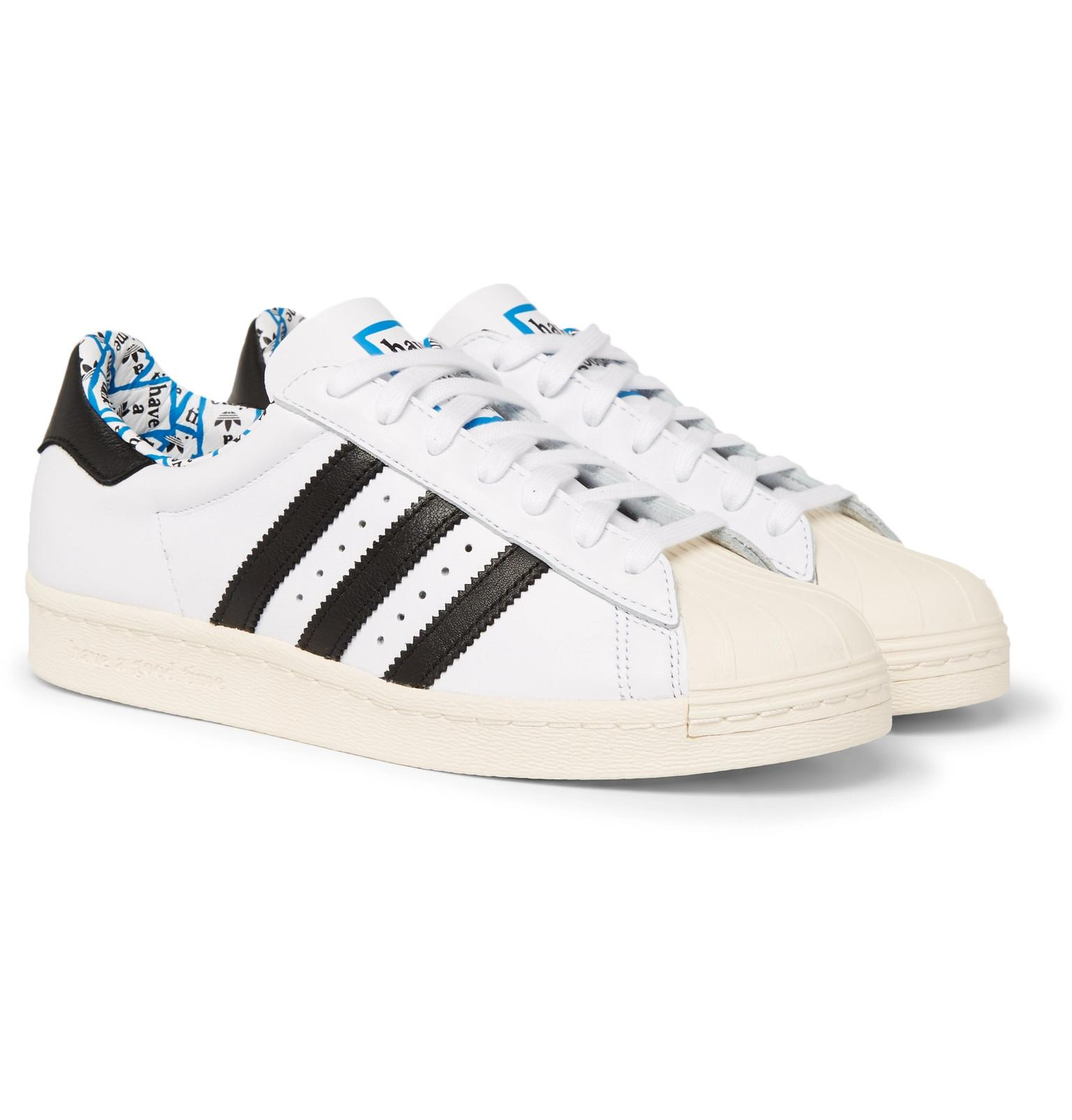 befb91f8ac66 Lyst - adidas Originals + Have A Good Time Superstar Leather ...