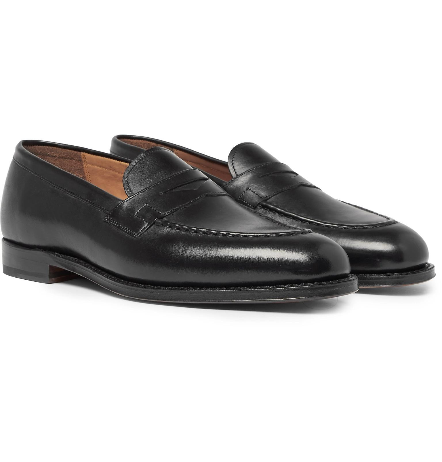 3f4f82807ed Lyst - Grenson Lloyd Leather Penny Loafers in Black for Men