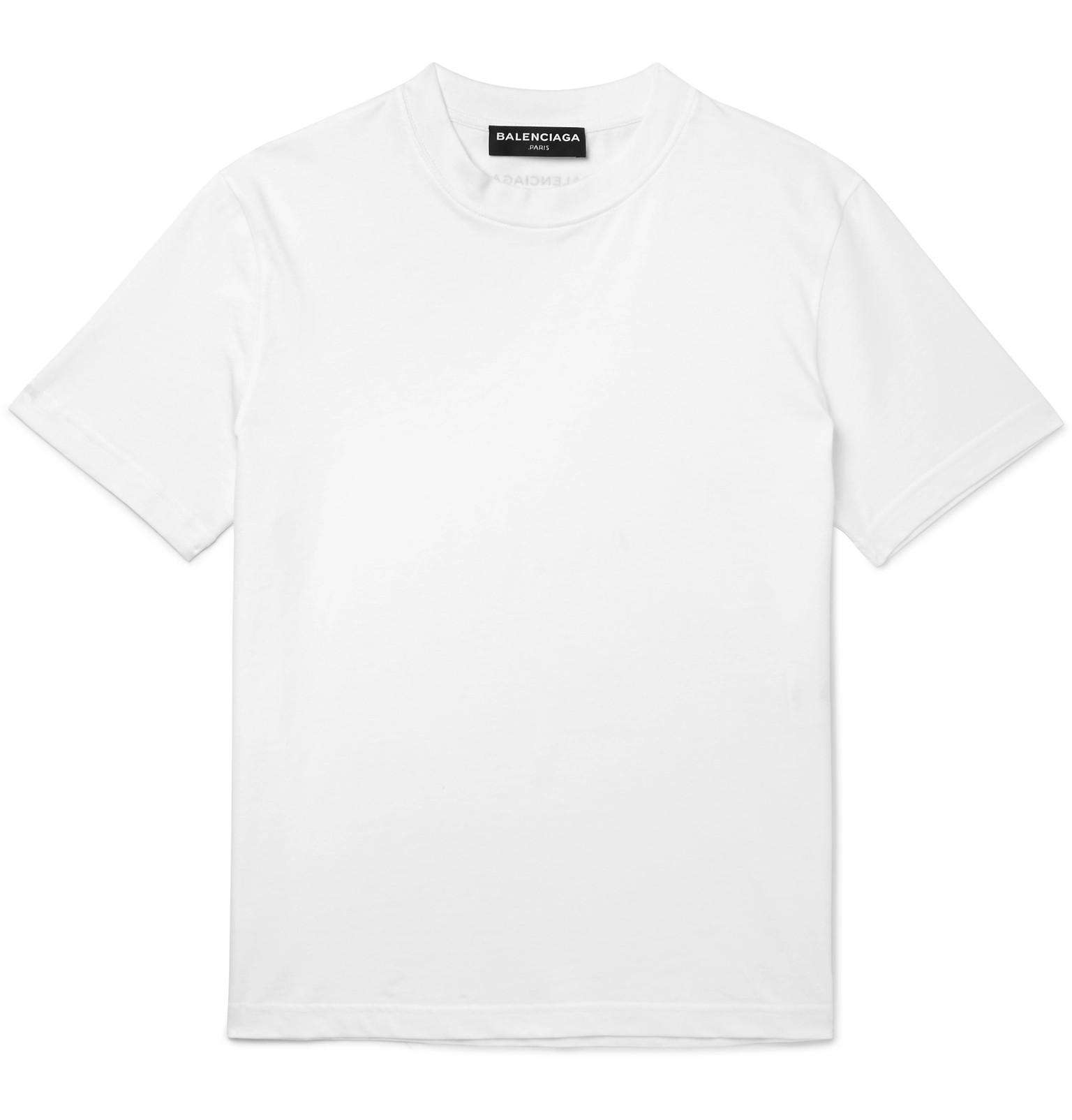 balenciaga cotton jersey t shirt in white for men lyst