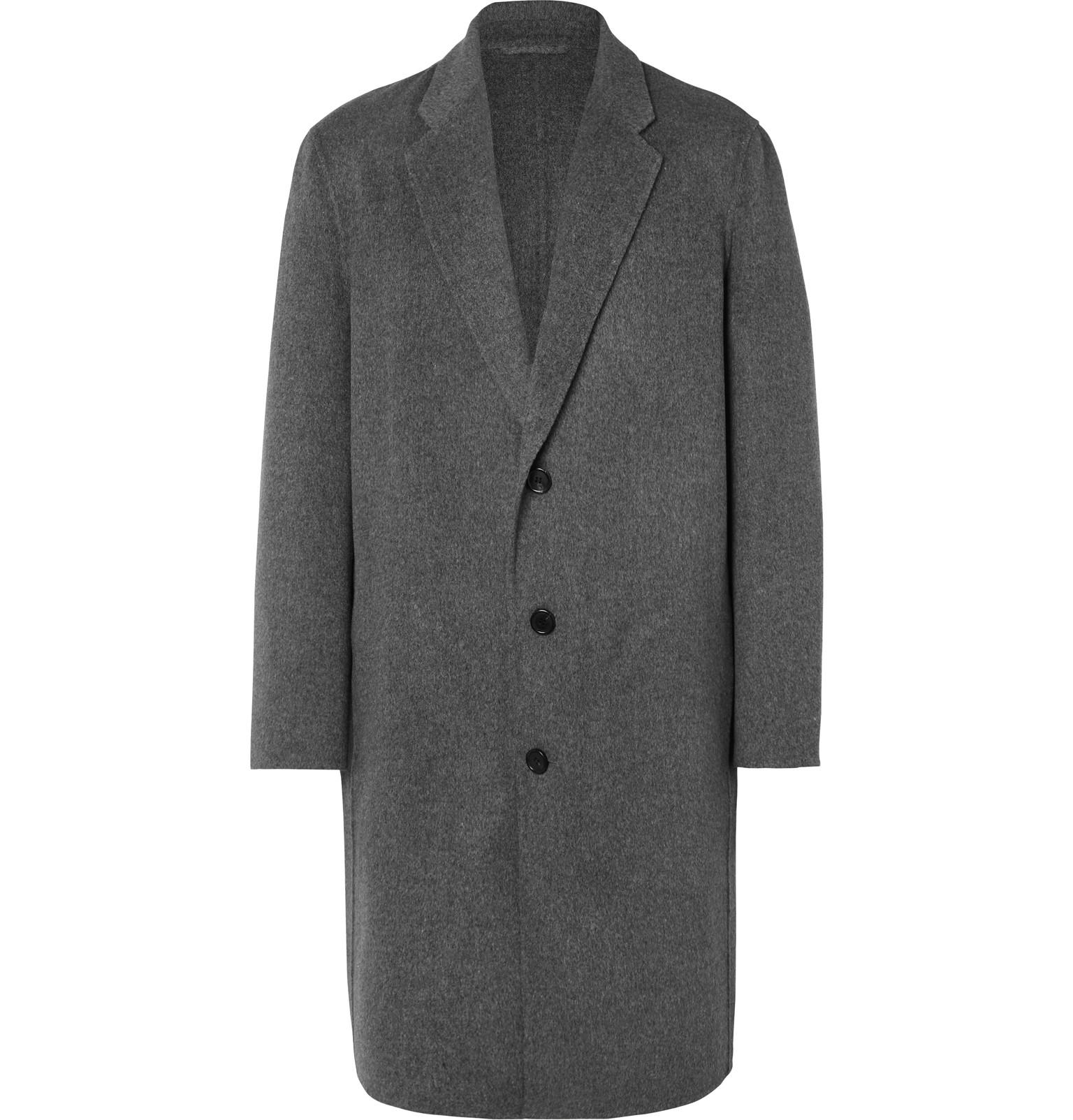 Acne Charles Wool And Cashmere-blend Overcoat in Gray for ...