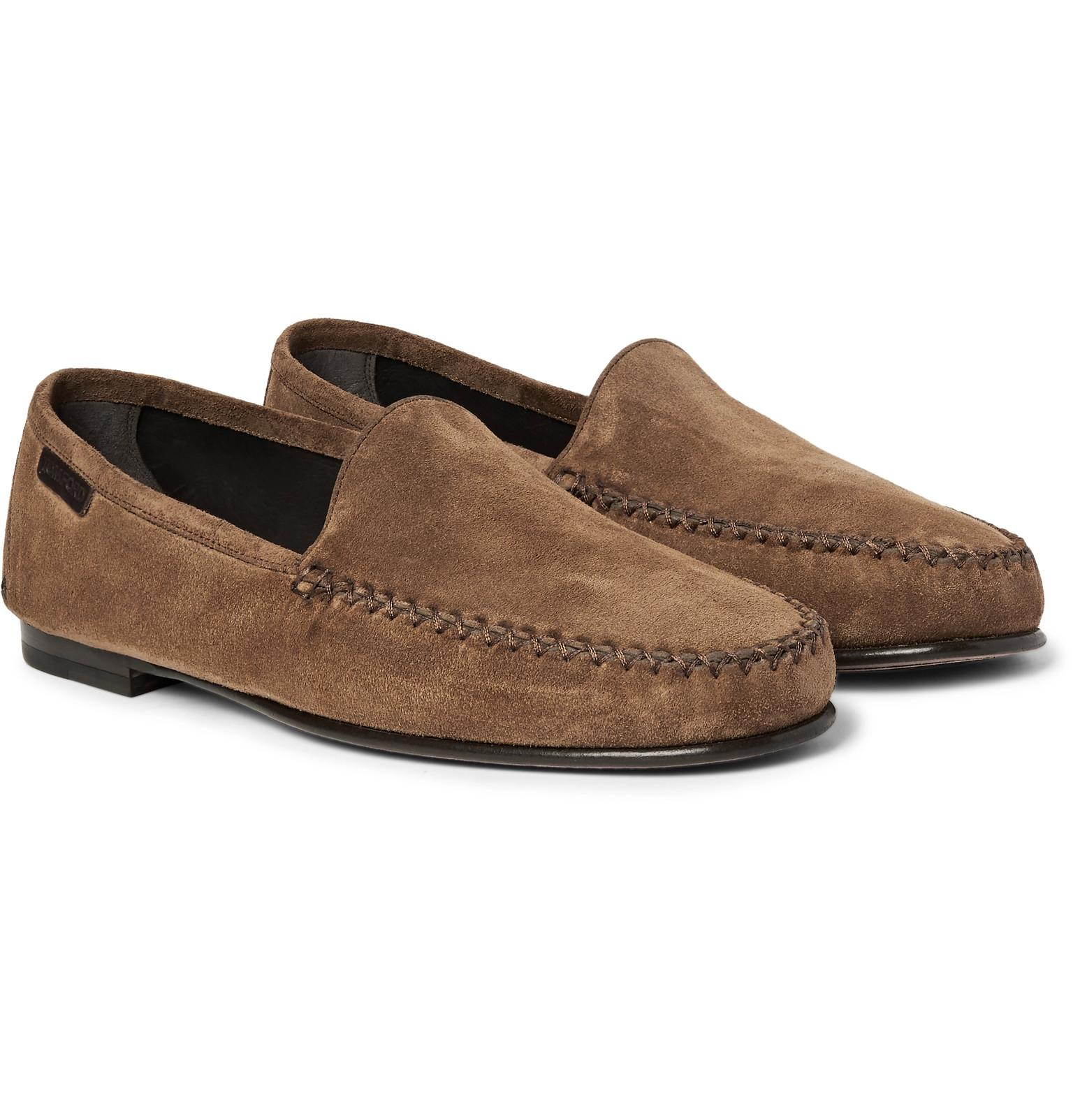 tom ford howard suede loafers in brown for lyst