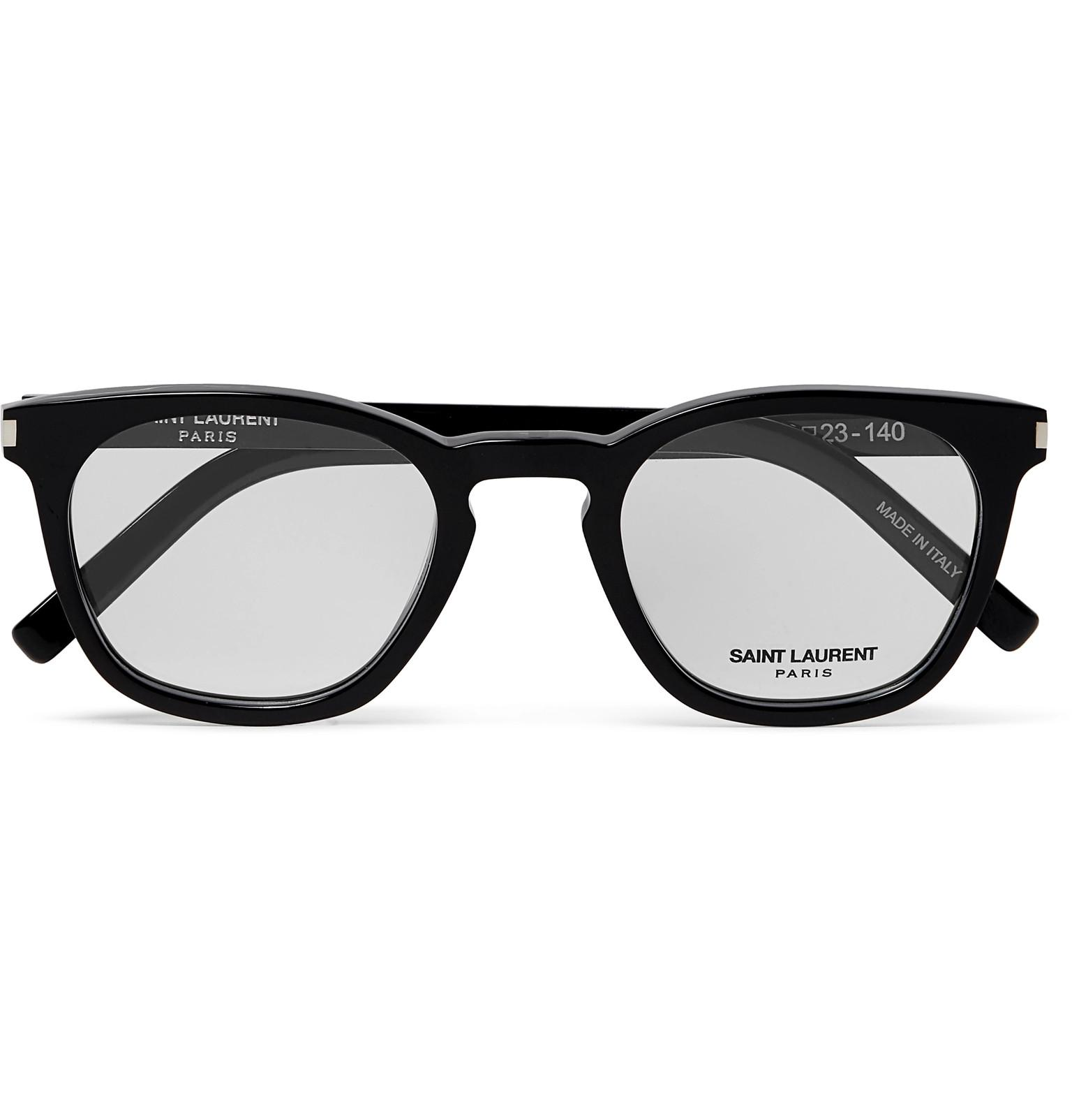 38f4d1d5b9 Saint Laurent D-frame Acetate Optical Glasses in Black for Men - Lyst