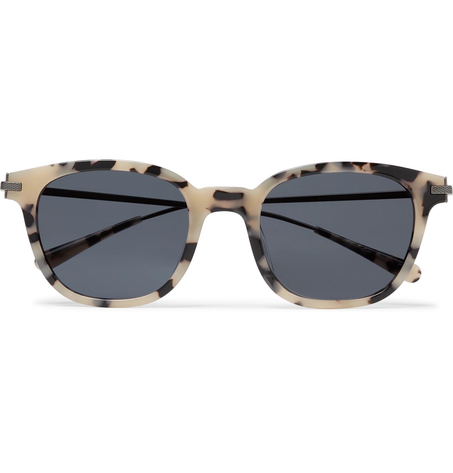 e72e0f143865 Berluti. Men s + Oliver Peoples Miami Square-frame Tortoiseshell Acetate  And Gunmetal-tone Sunglasses