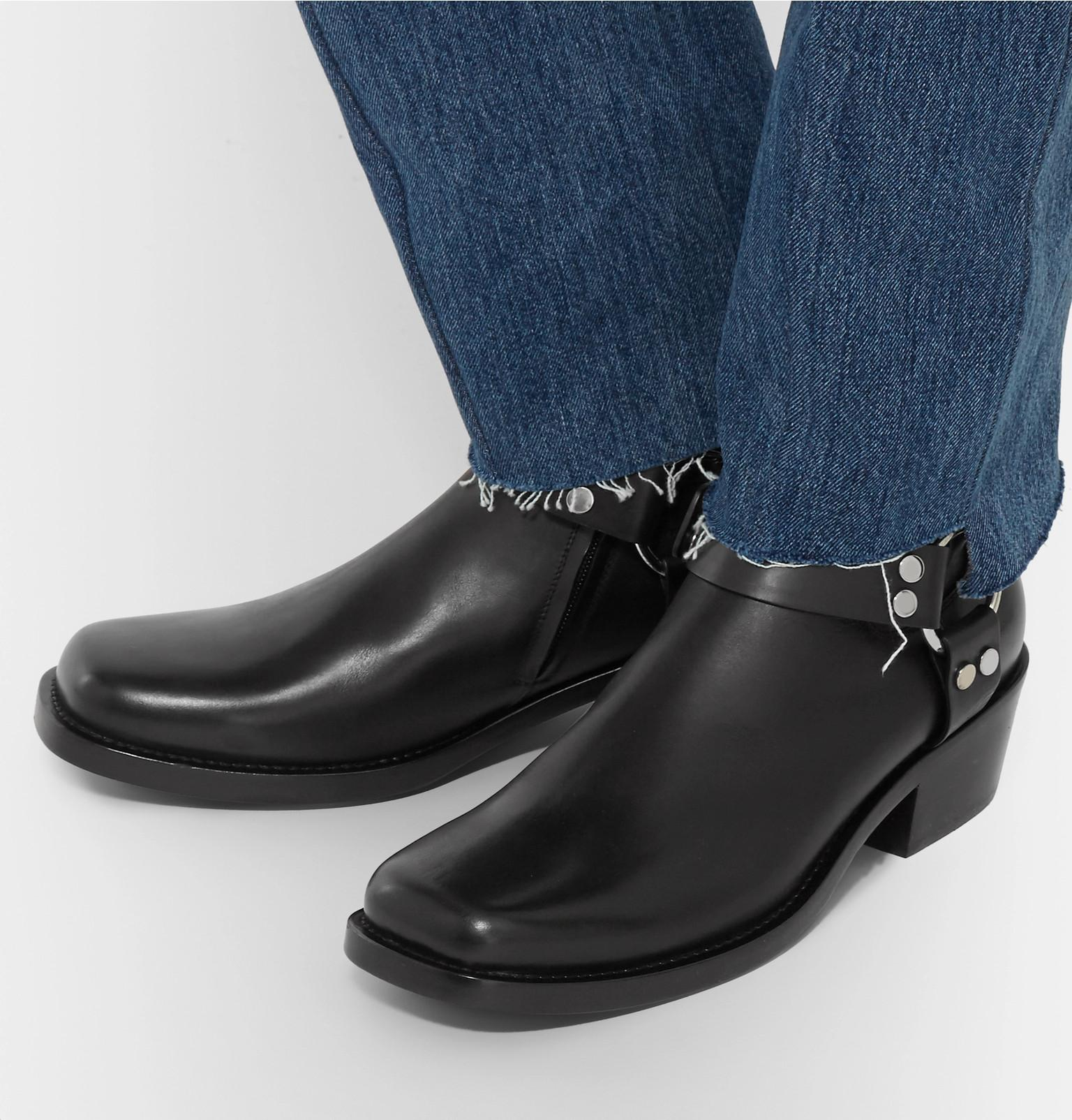 9799a732cd2c Lyst - Balenciaga Leather Harness Boots in Black for Men