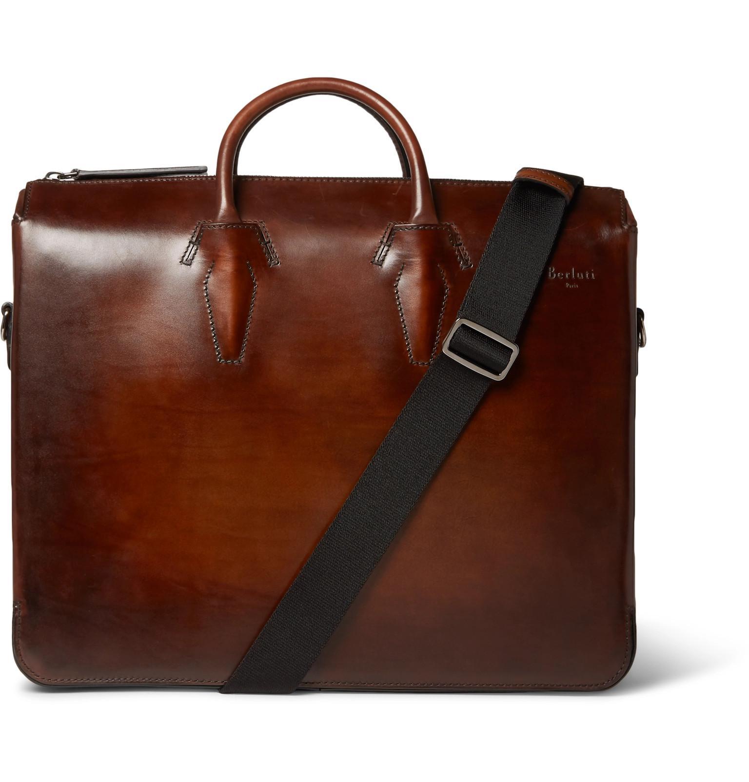 Profile Mini Scritto Leather Briefcase Berluti 5syfhVzzBL